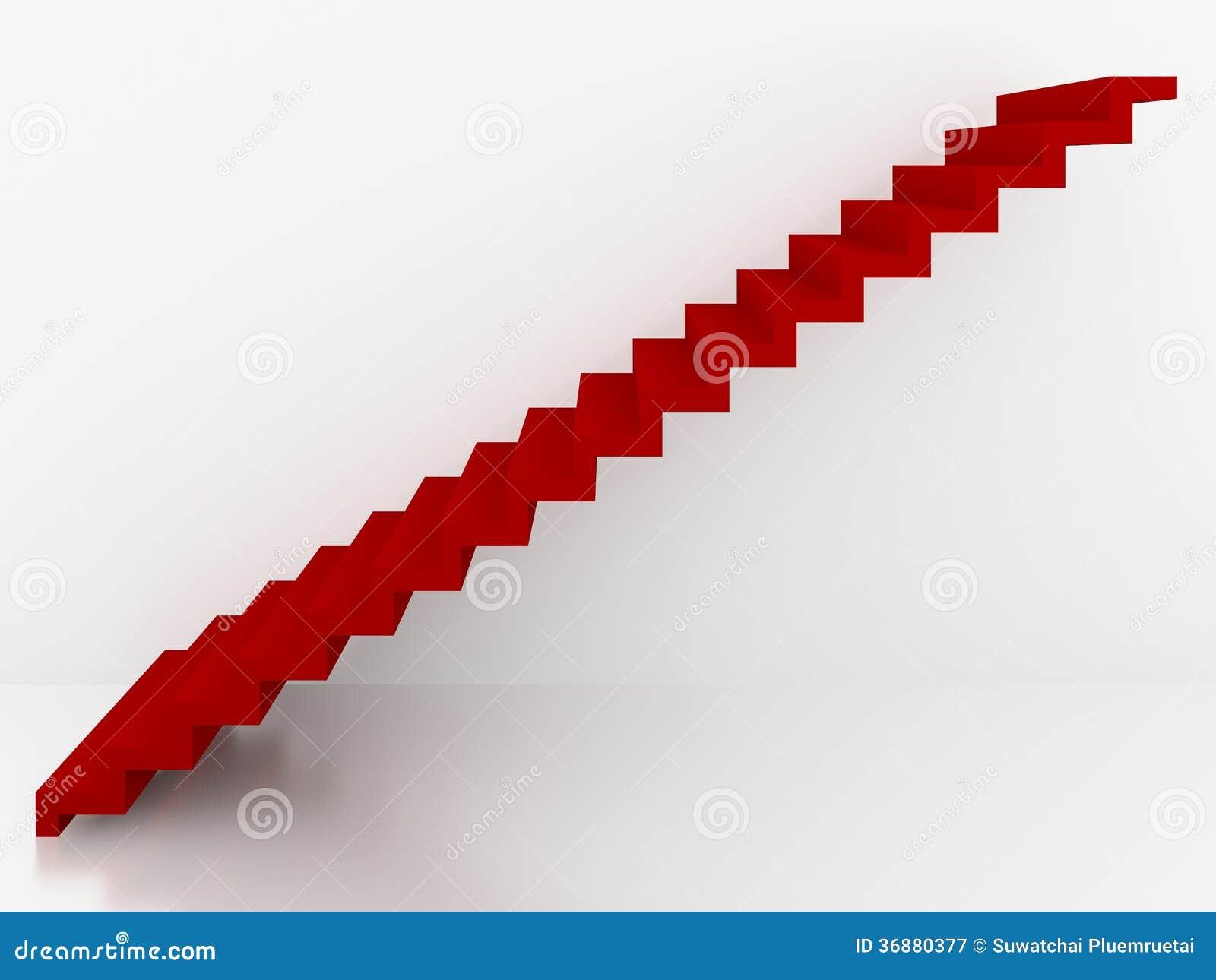 Download Scale Rosse Nell'interno Bianco Del Fondo, 3d Illustrazione di Stock - Illustrazione di colore, rosso: 36880377