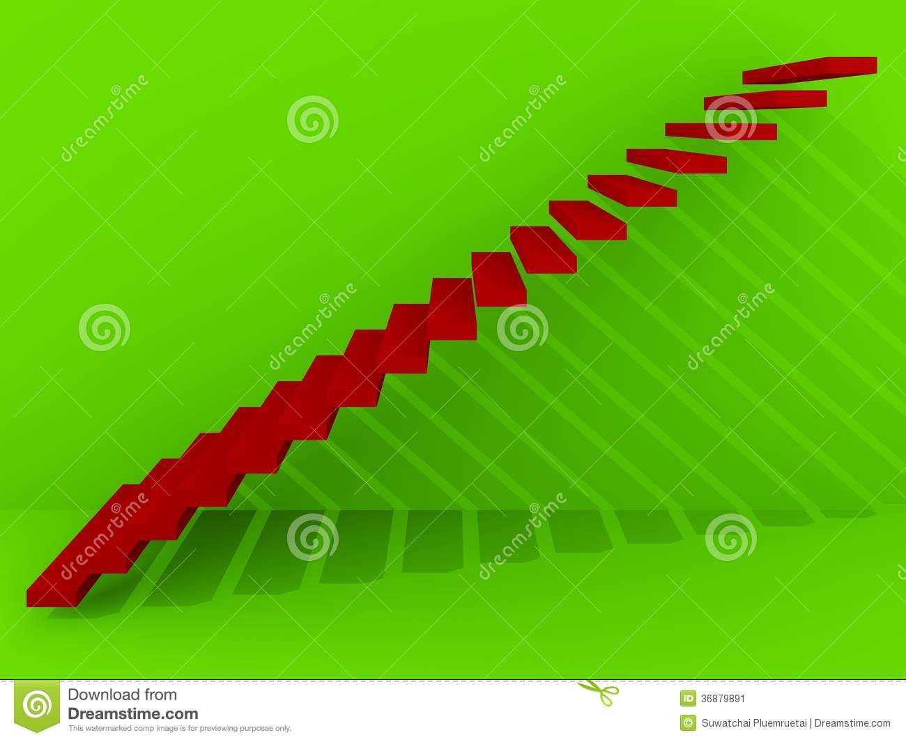 Download Scale Rosse Nell'interno Verde Del Fondo, 3d Illustrazione di Stock - Illustrazione di corridoio, blank: 36879891
