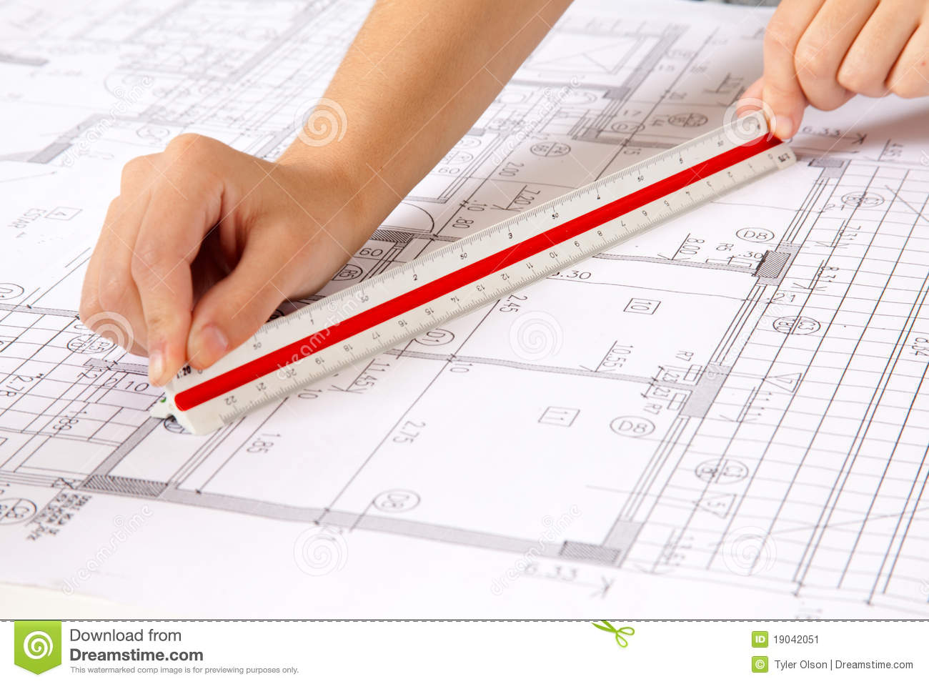 Scale ruler on blueprints stock image image of design for Blueprint scale