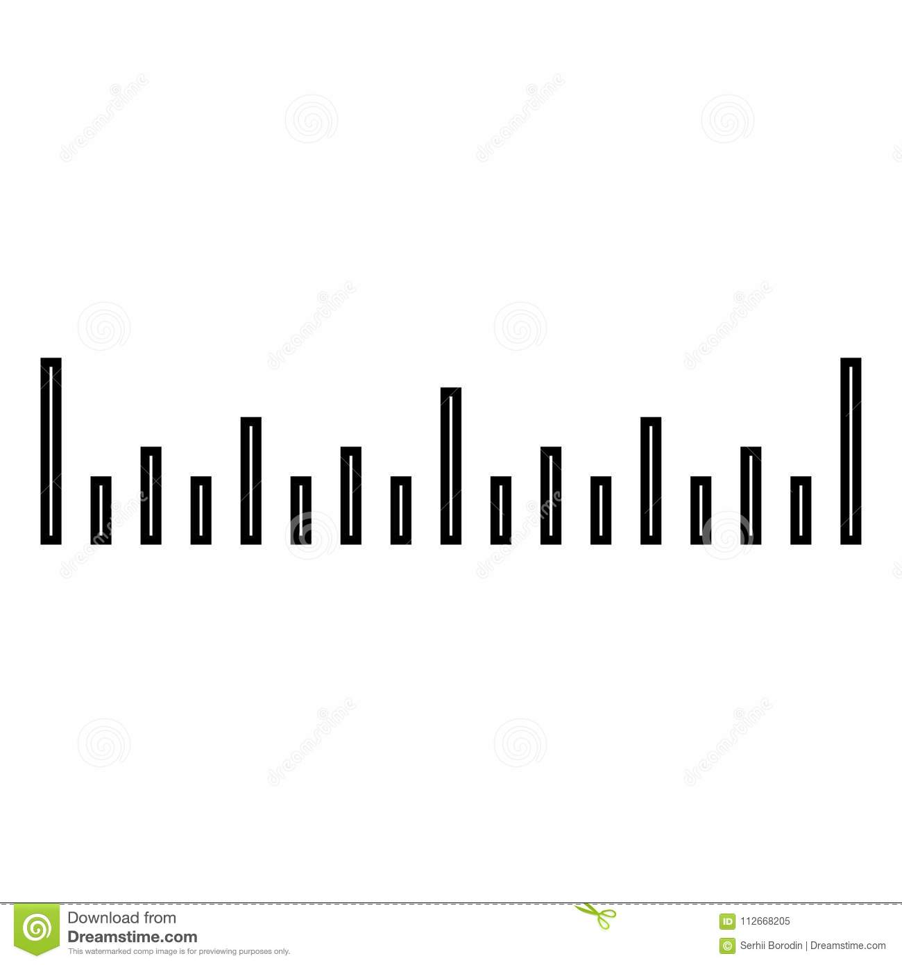 scale ruler icon black color illustration flat style simple image