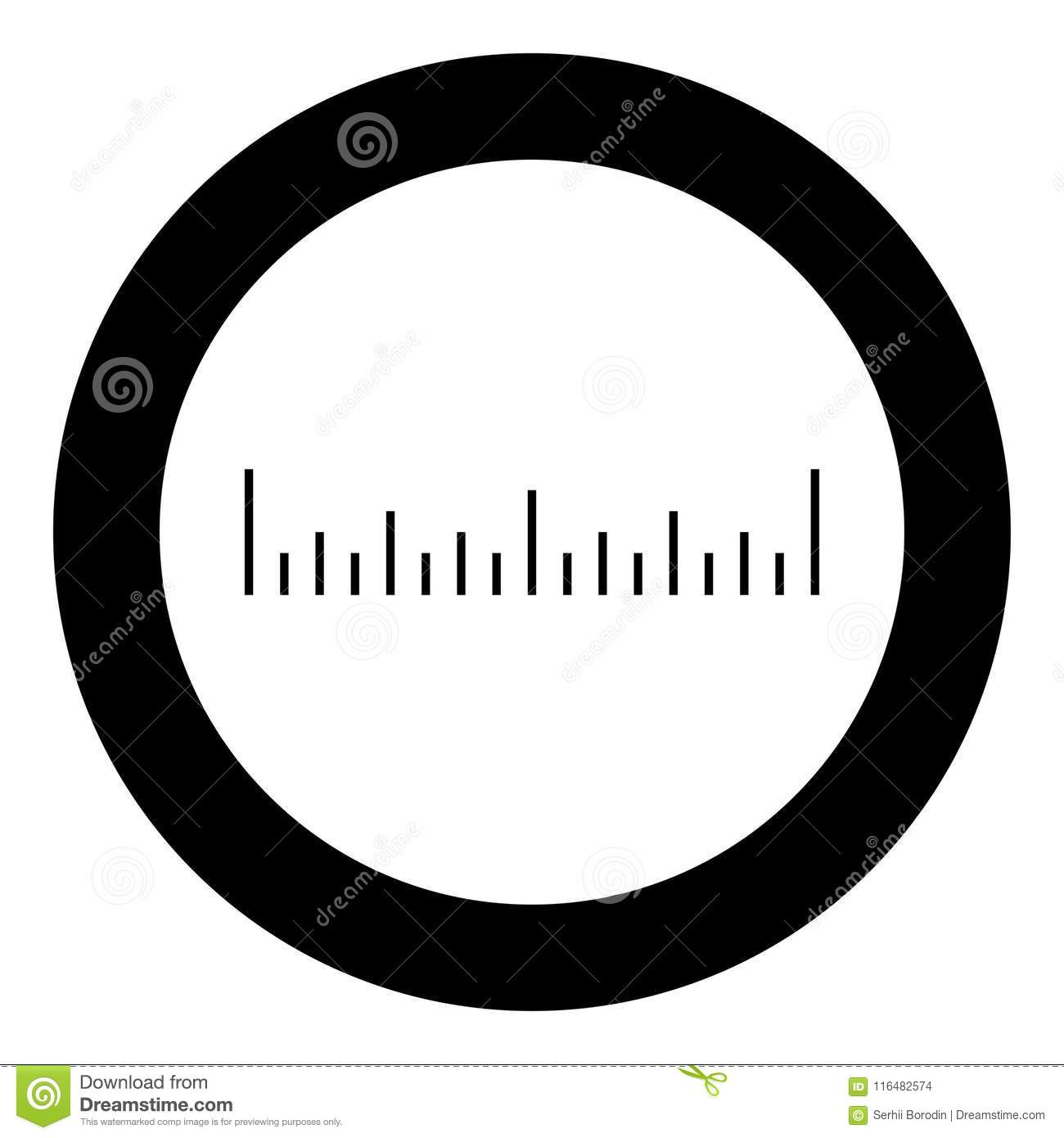 scale ruler icon black color vector illustration simple image stock