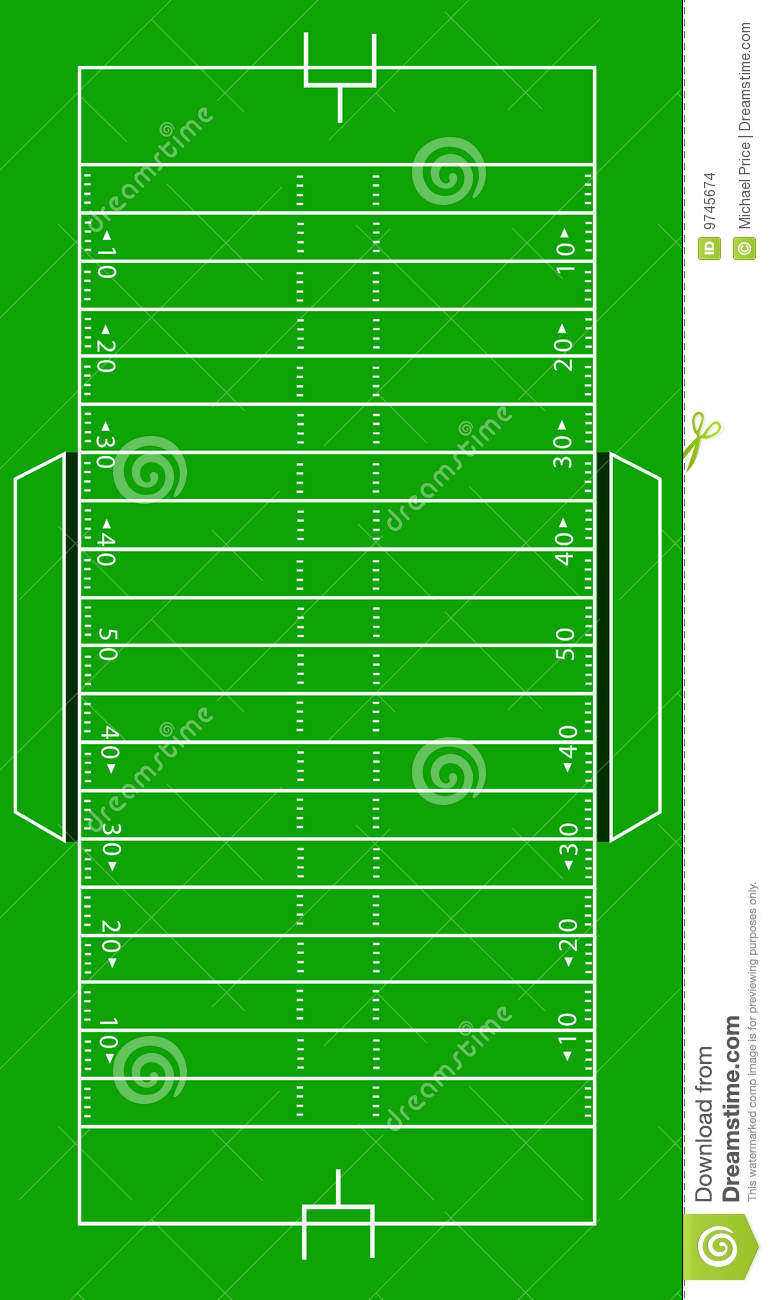 scale vector american football pitch stock vector
