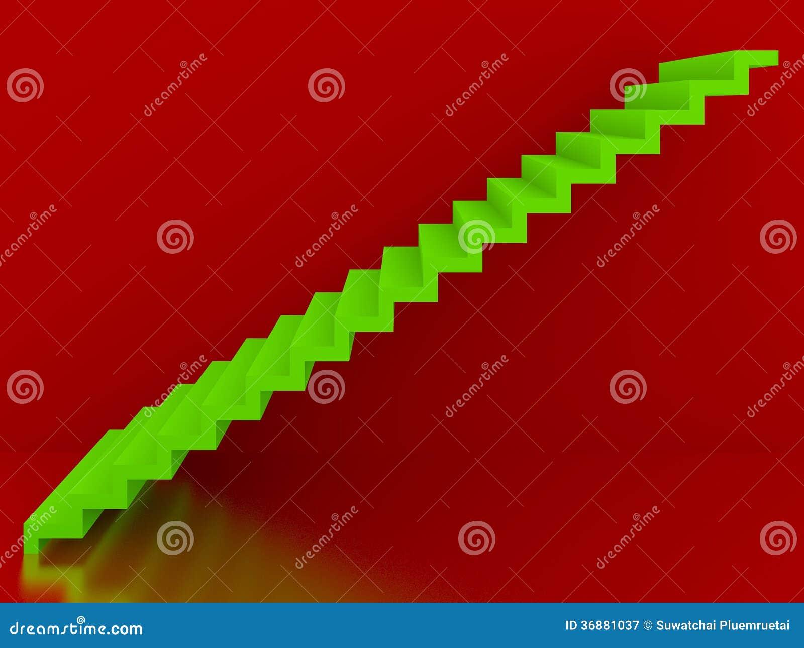 Download Scale Verdi Nell'interno Rosso Del Fondo, 3d Illustrazione di Stock - Illustrazione di luce, disegno: 36881037