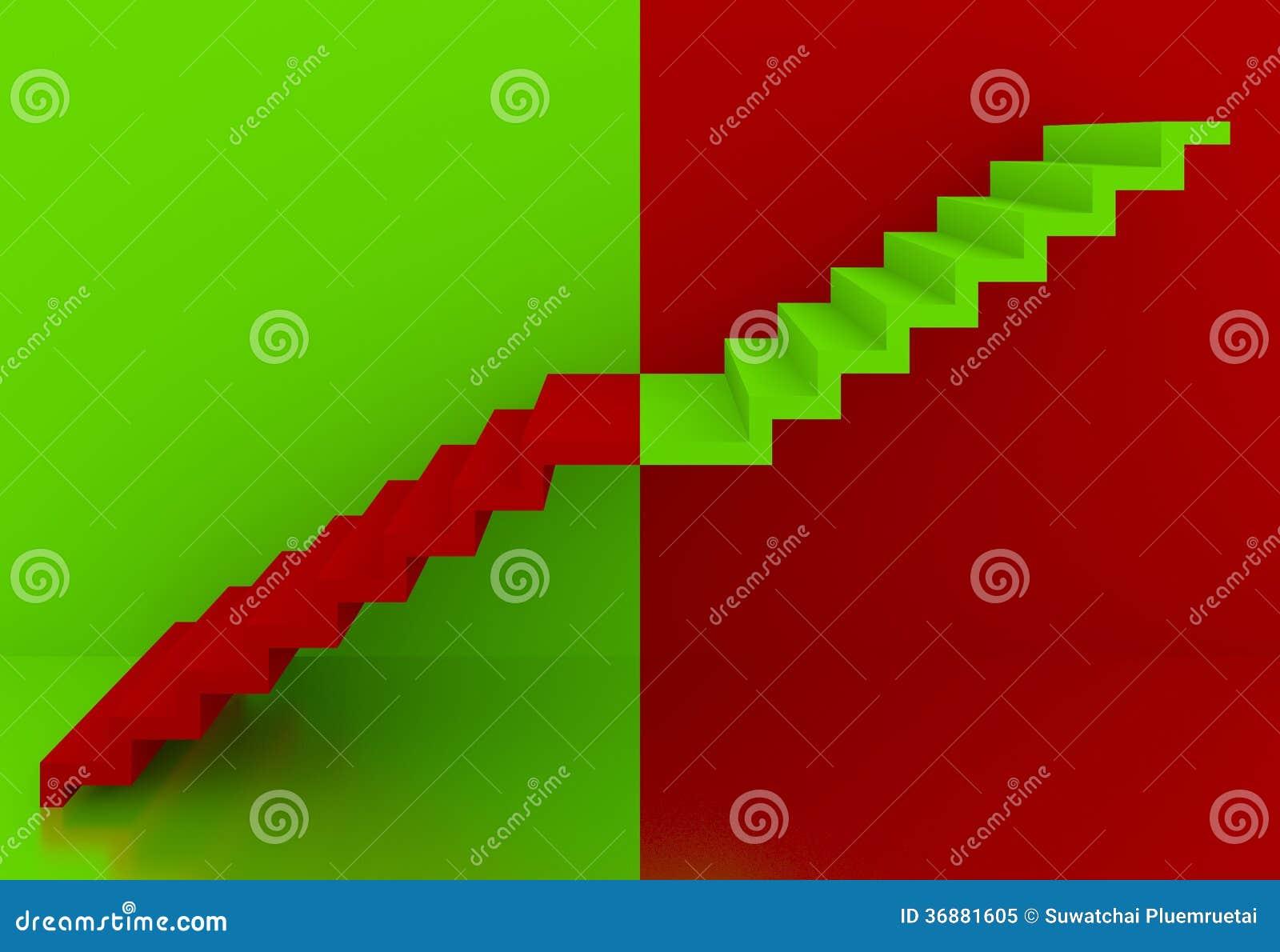 Download Scale Verdi Nell'interno Rosso Del Fondo, 3d Illustrazione di Stock - Illustrazione di concetti, interno: 36881605