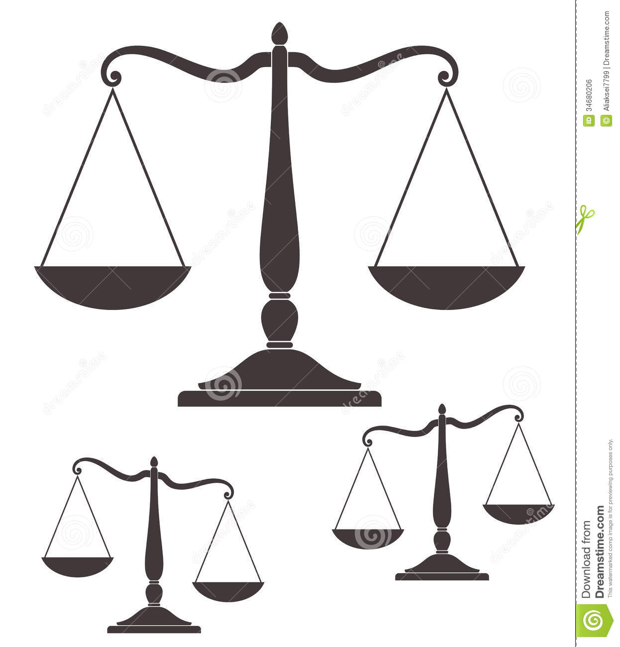 Scale  Vintage  Isolated objects on white background  Vector    Unbalanced Scale Of Justice Vector