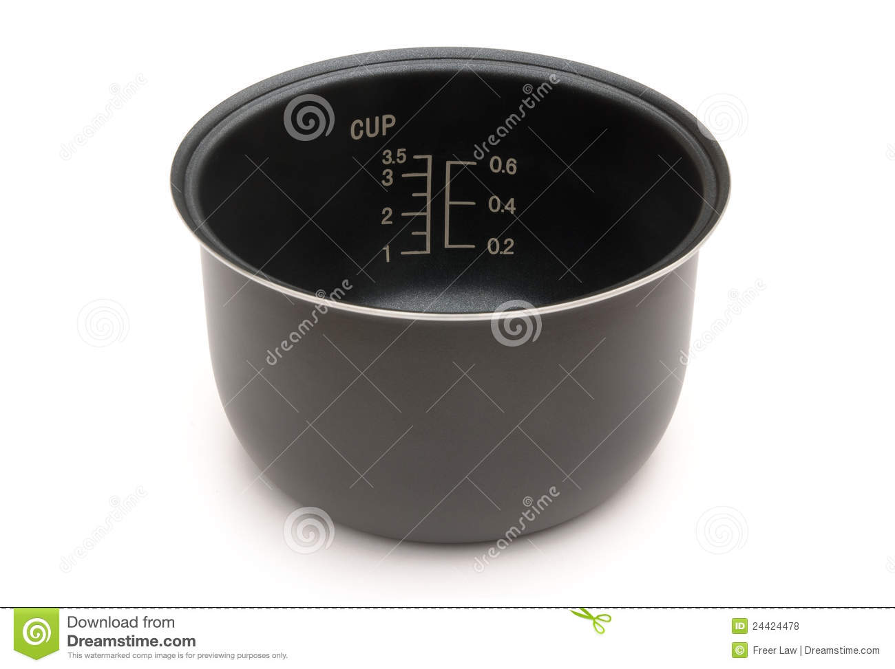 scaled inner pot of electric rice cooker royalty free stock photos image 24424478