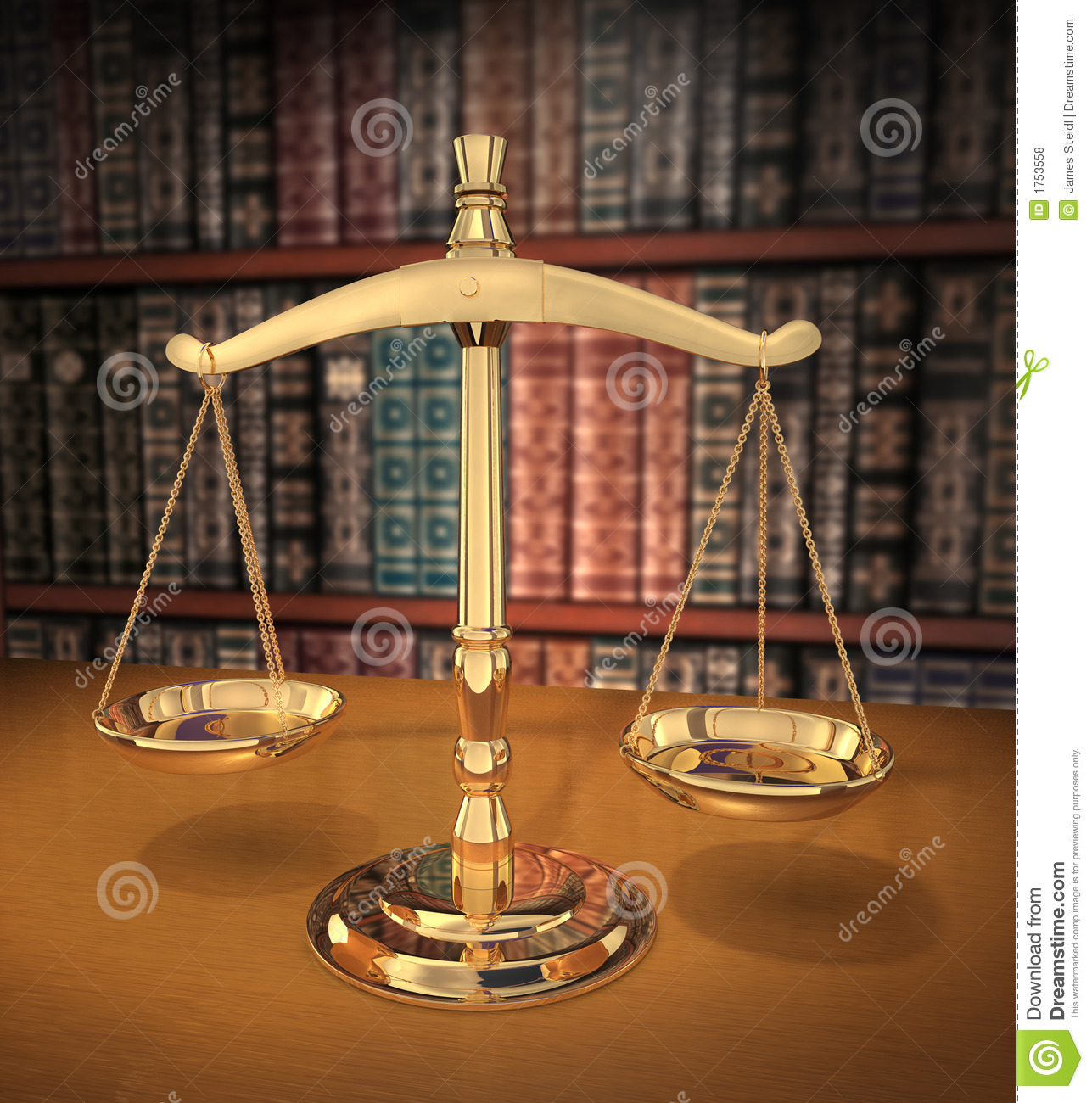 Scales Of Justice Stock Illustration Image Of System