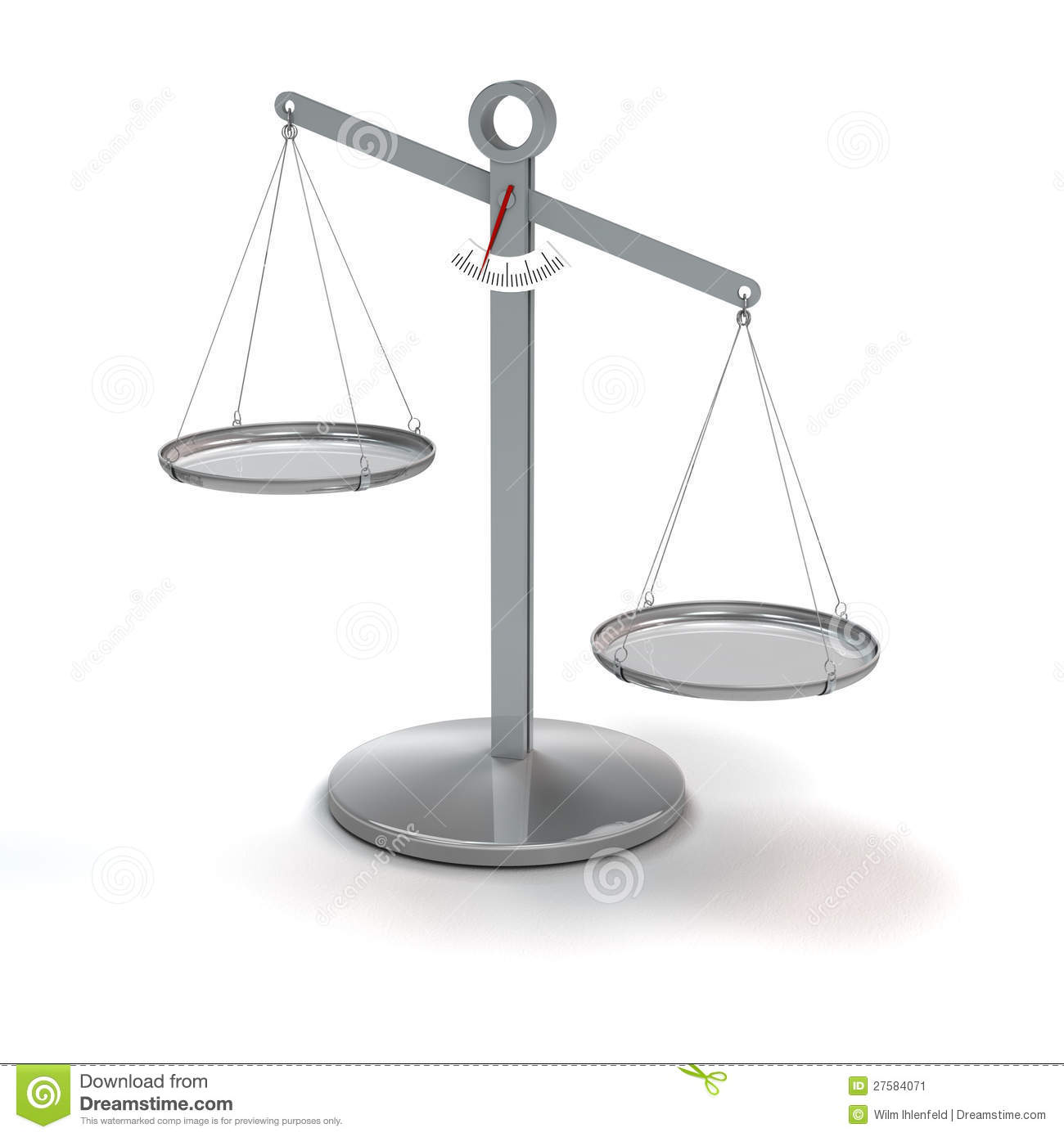 Uneven Balance Scale Scale not in balance