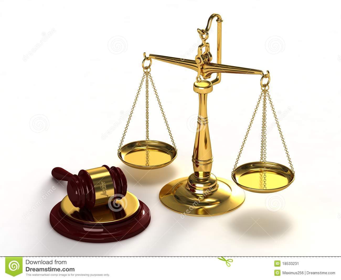 Scales Of Justice And Gavel. Stock Image - Image: 18533231