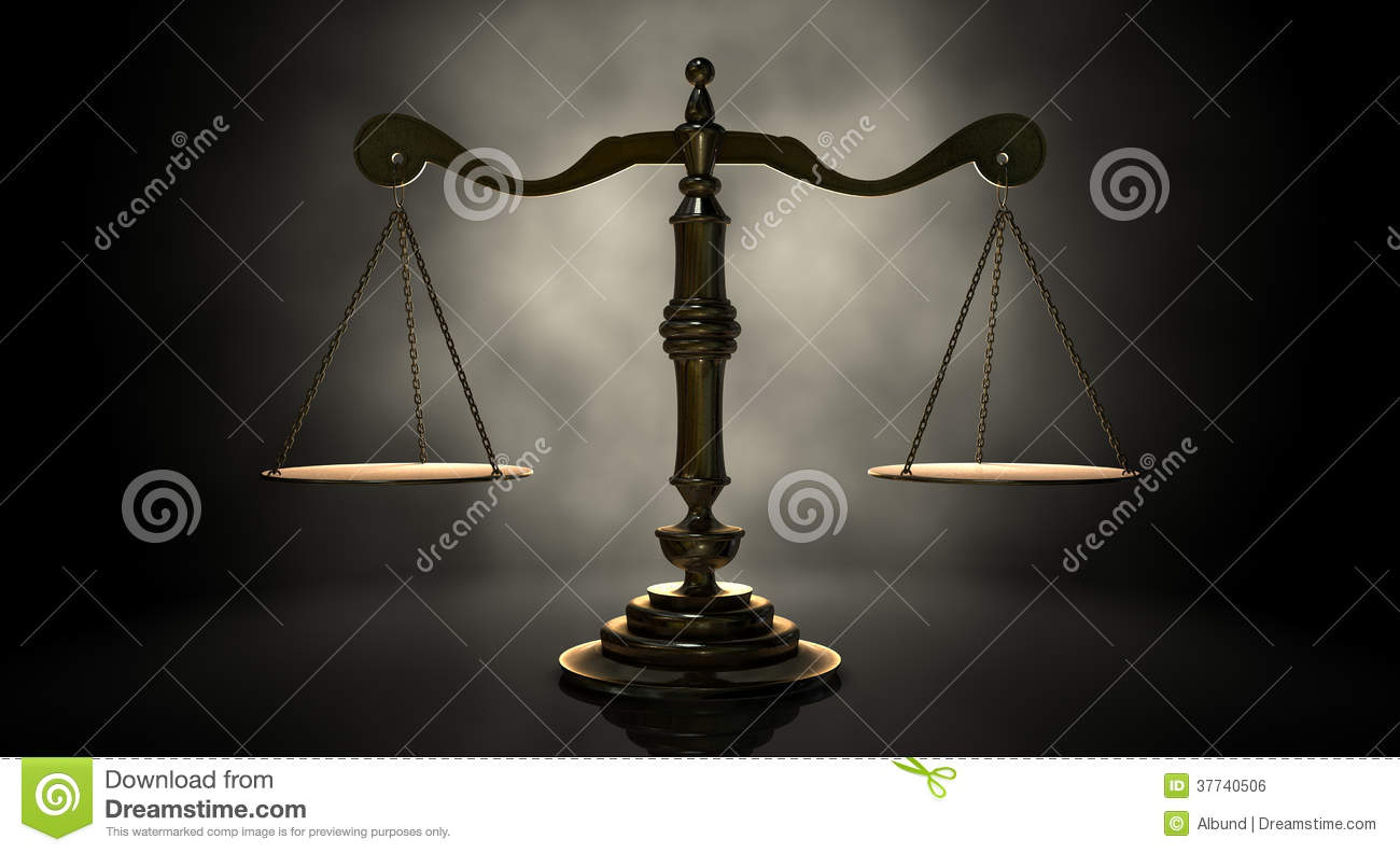 Scales Of Justice stock illustration  Illustration of equal
