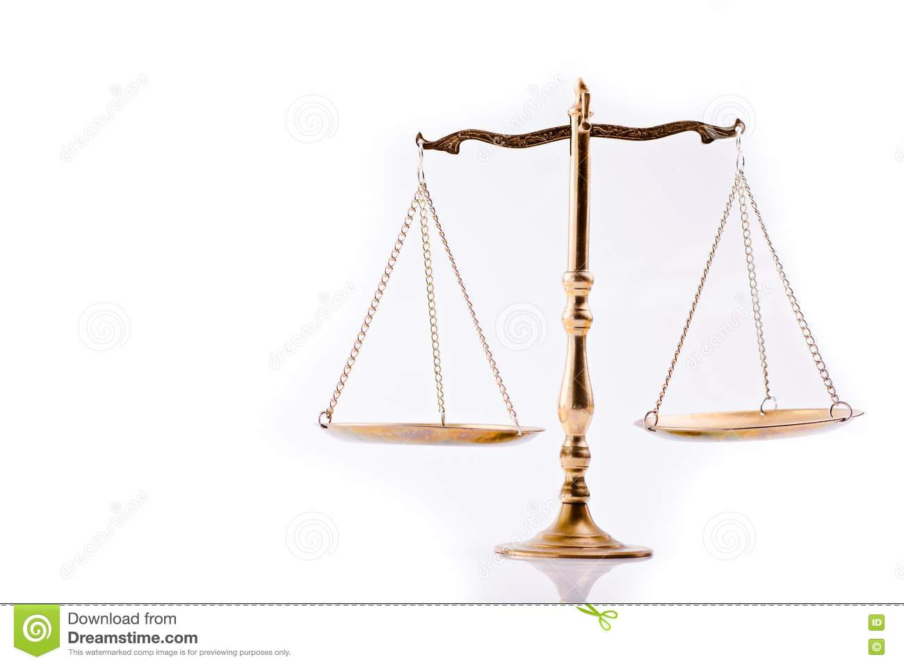 Scales Of Justice The Symbol Of Law Stock Photo Image Of Crime