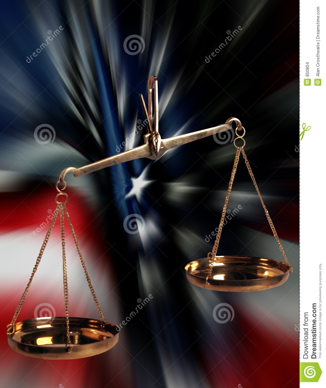 scales of justice and us flag stock images image 850804