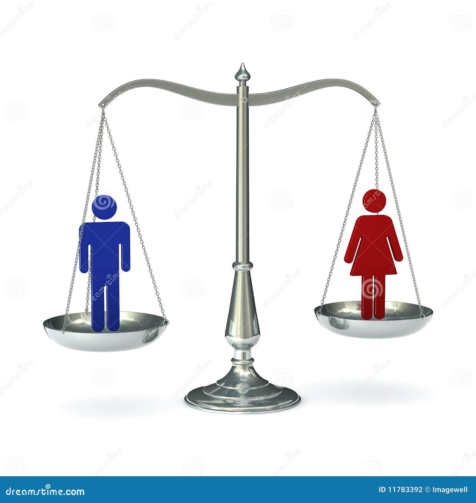 Uneven Balance Scale Clip Art Scales man woman