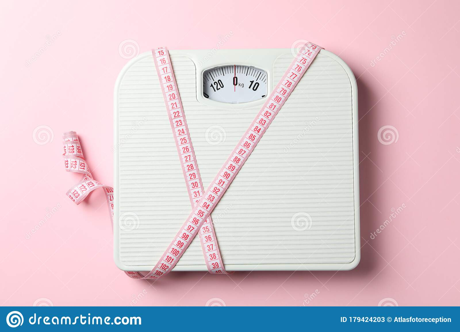 Scales And Measuring Tape On Background Weight Loss Concept Stock Image Image Of View Space 179424203