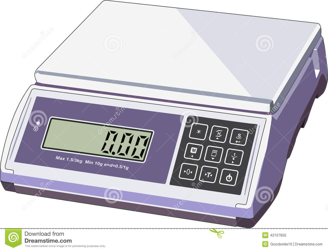 Shop Scales Icon Simple Style Vector Illustration