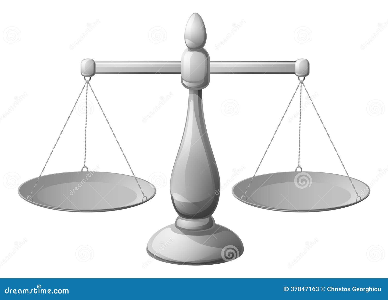 Cartoon Image Of Balance Icon  Scales Symbol Cartoon