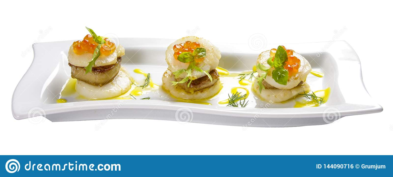 Scallop with foie gras
