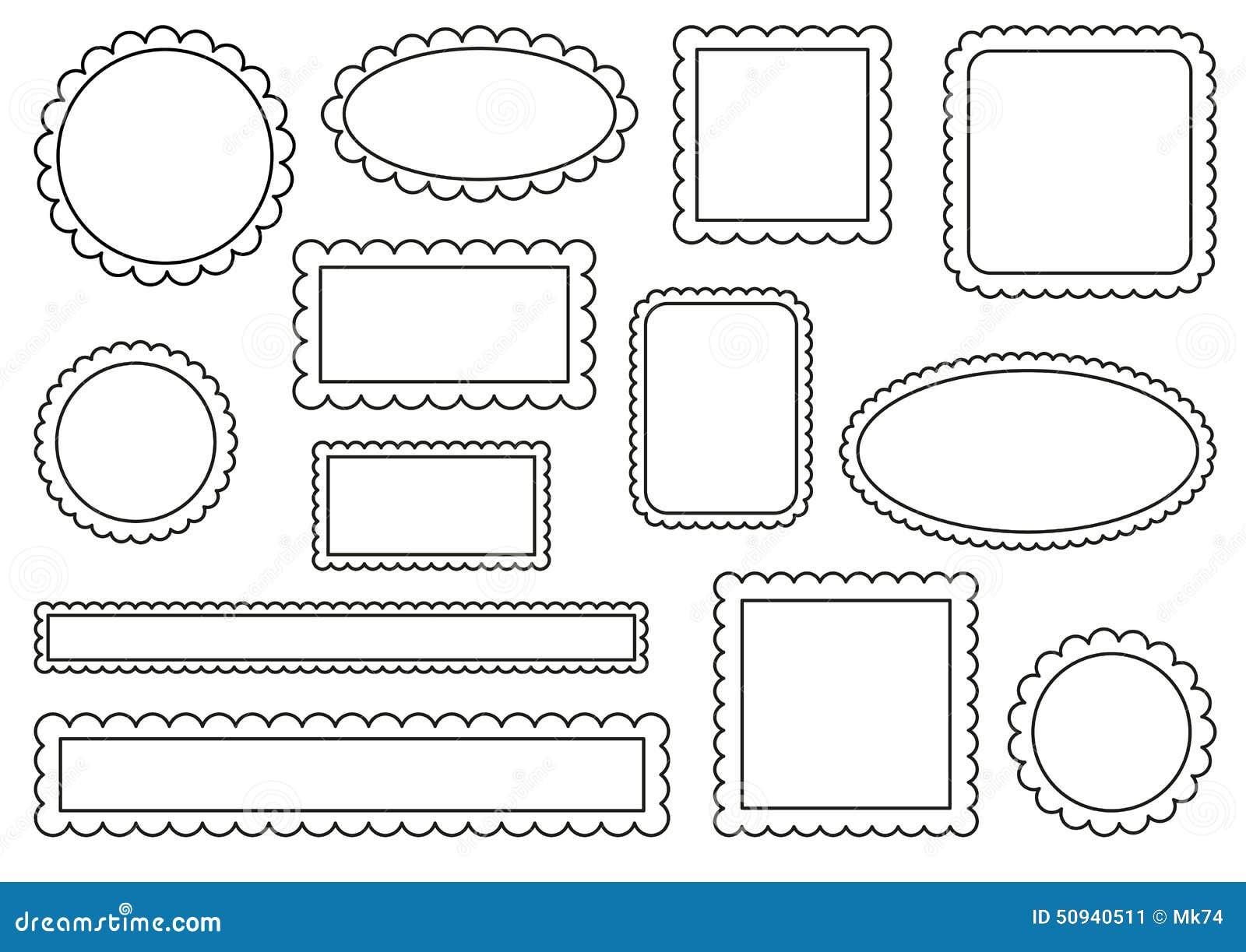 Scalloped frames stock vector. Illustration of label - 50940511