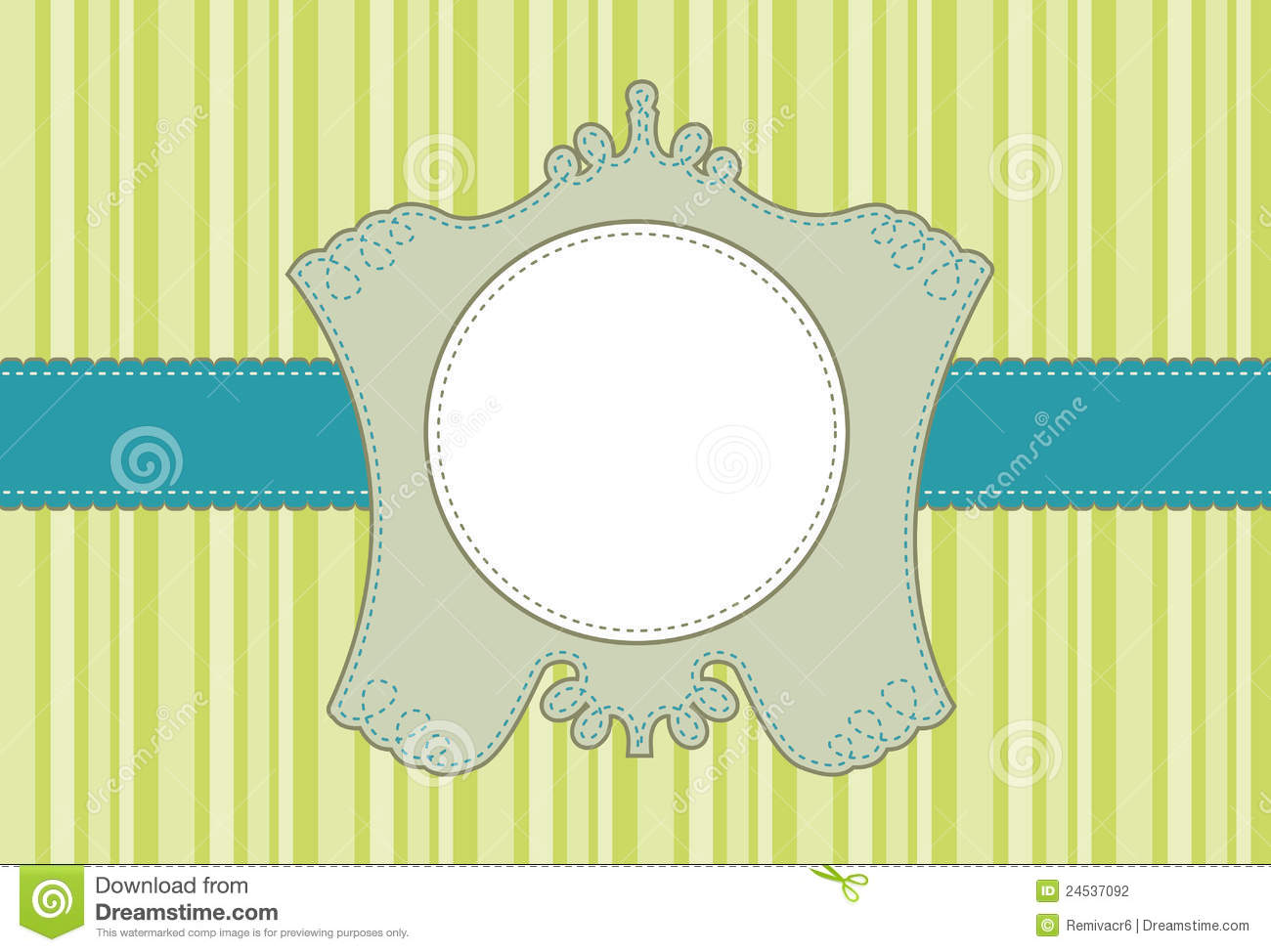 scalloped label frame
