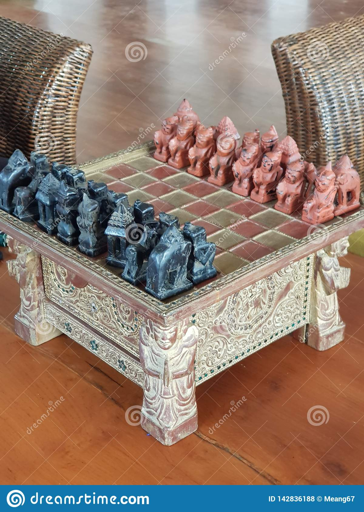 Scalpture d échecs de Birmanie bagan