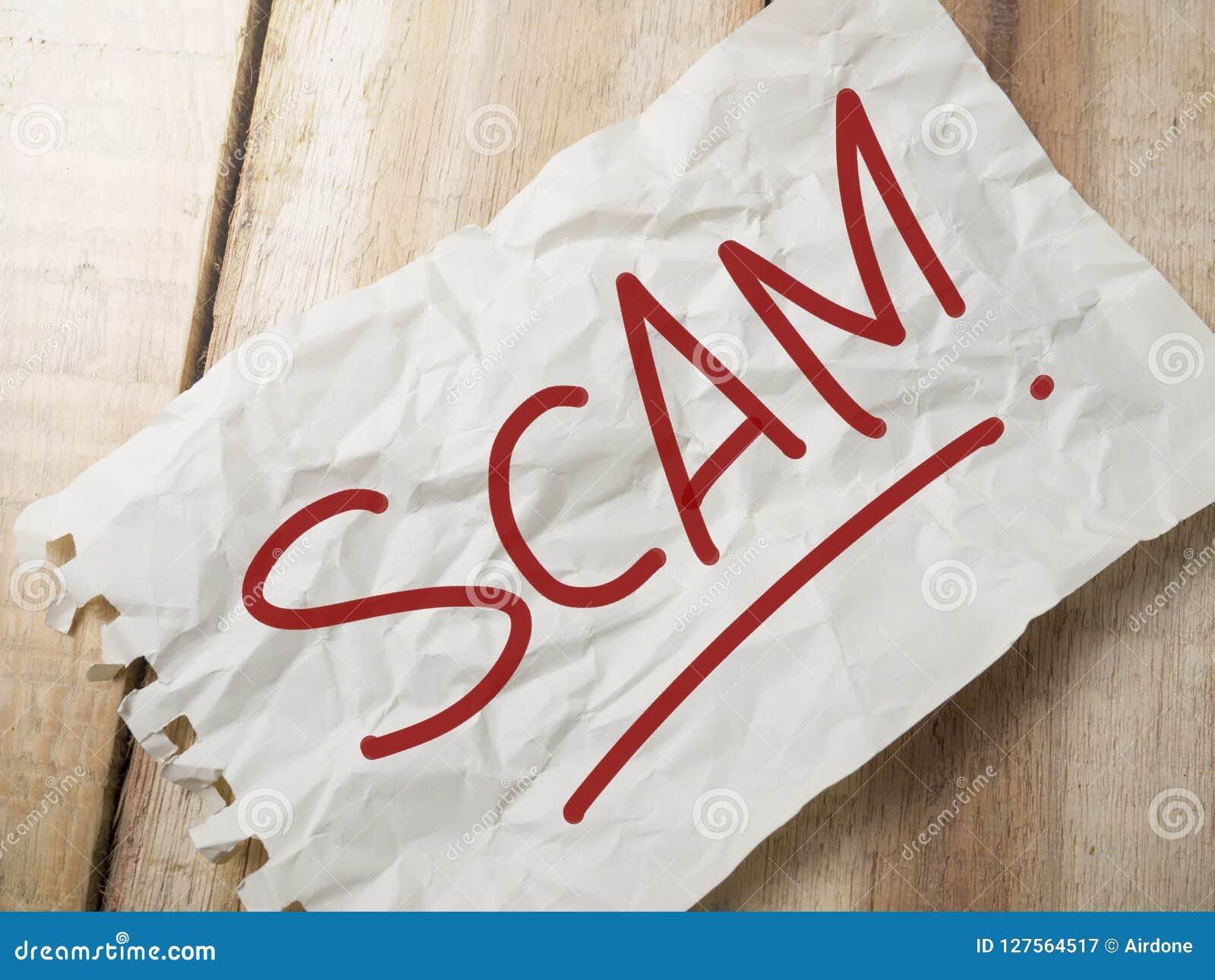 Scam-Alarm, Concept van de Woordencitaten van Internet het Frauduleuze