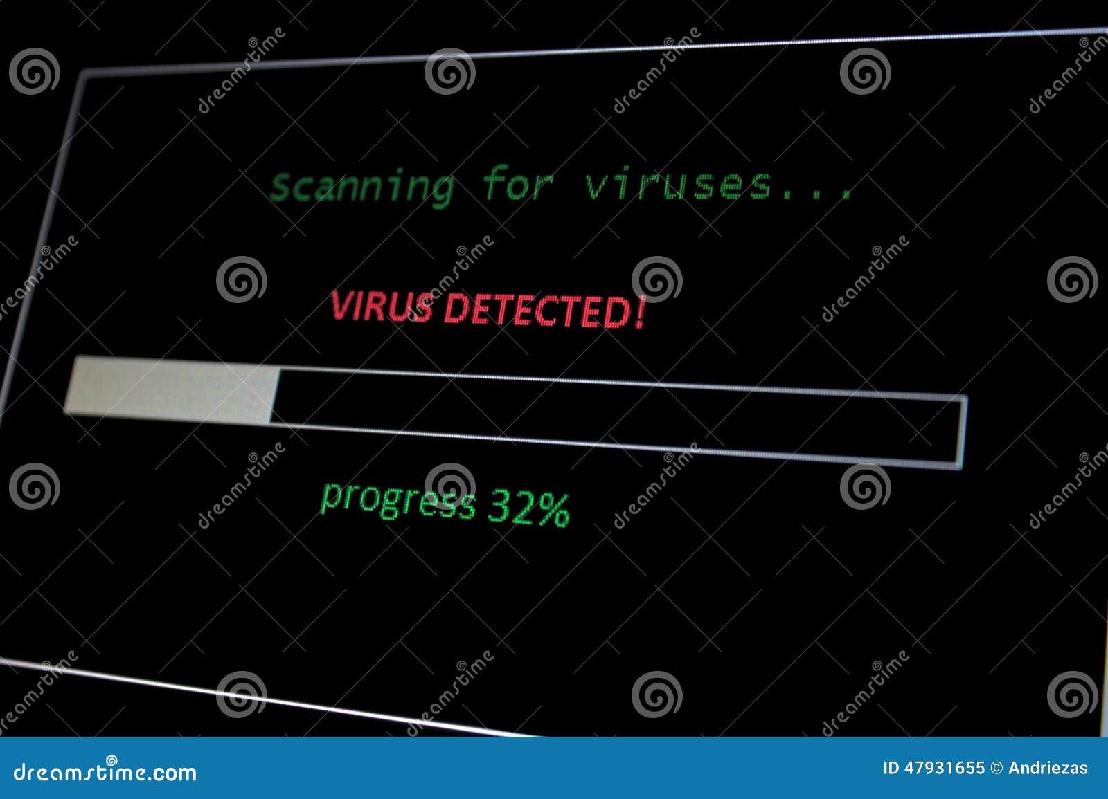 Scan For Virus Virus Detected Stock Photo Image 47931655