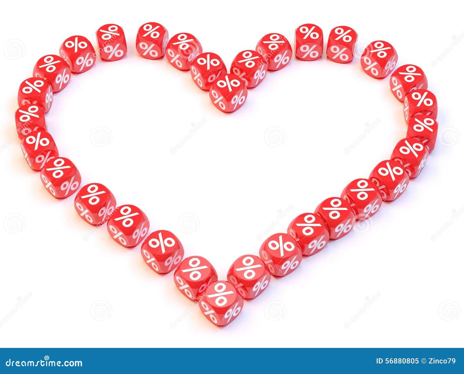 Scanalatura dei dadi del cuore
