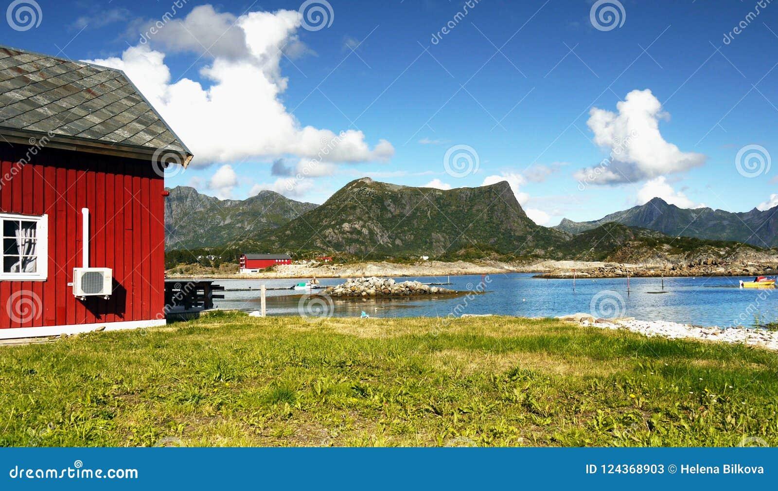 Scandinavia, Norwegia, Północny Niewygładzony krajobraz, Lofoten wyspy