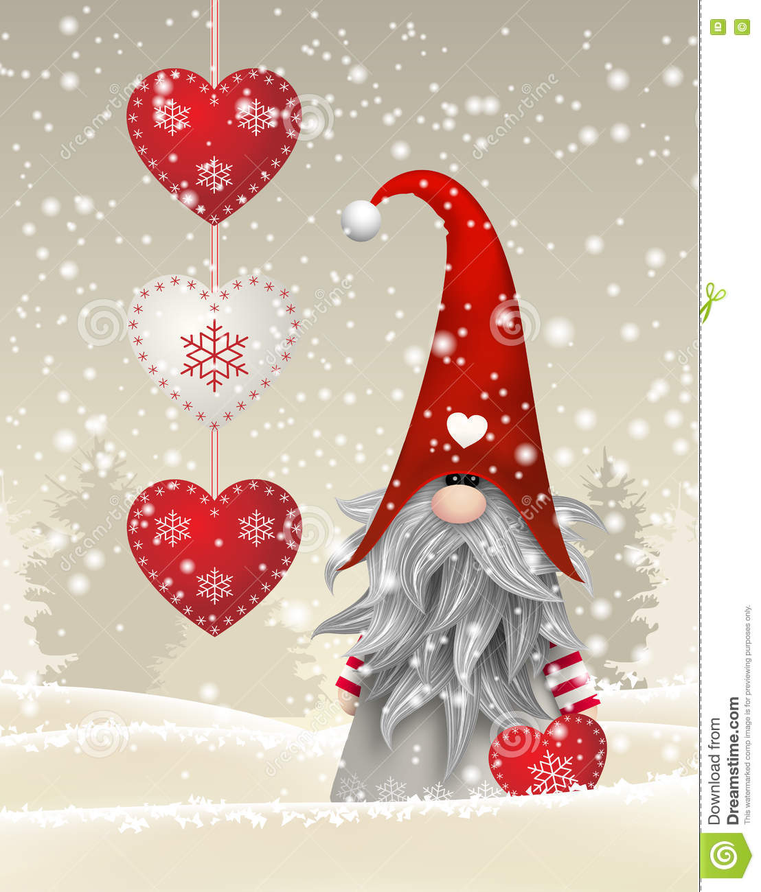 Scandinavian christmas traditional gnome tomte illustration stock download comp m4hsunfo