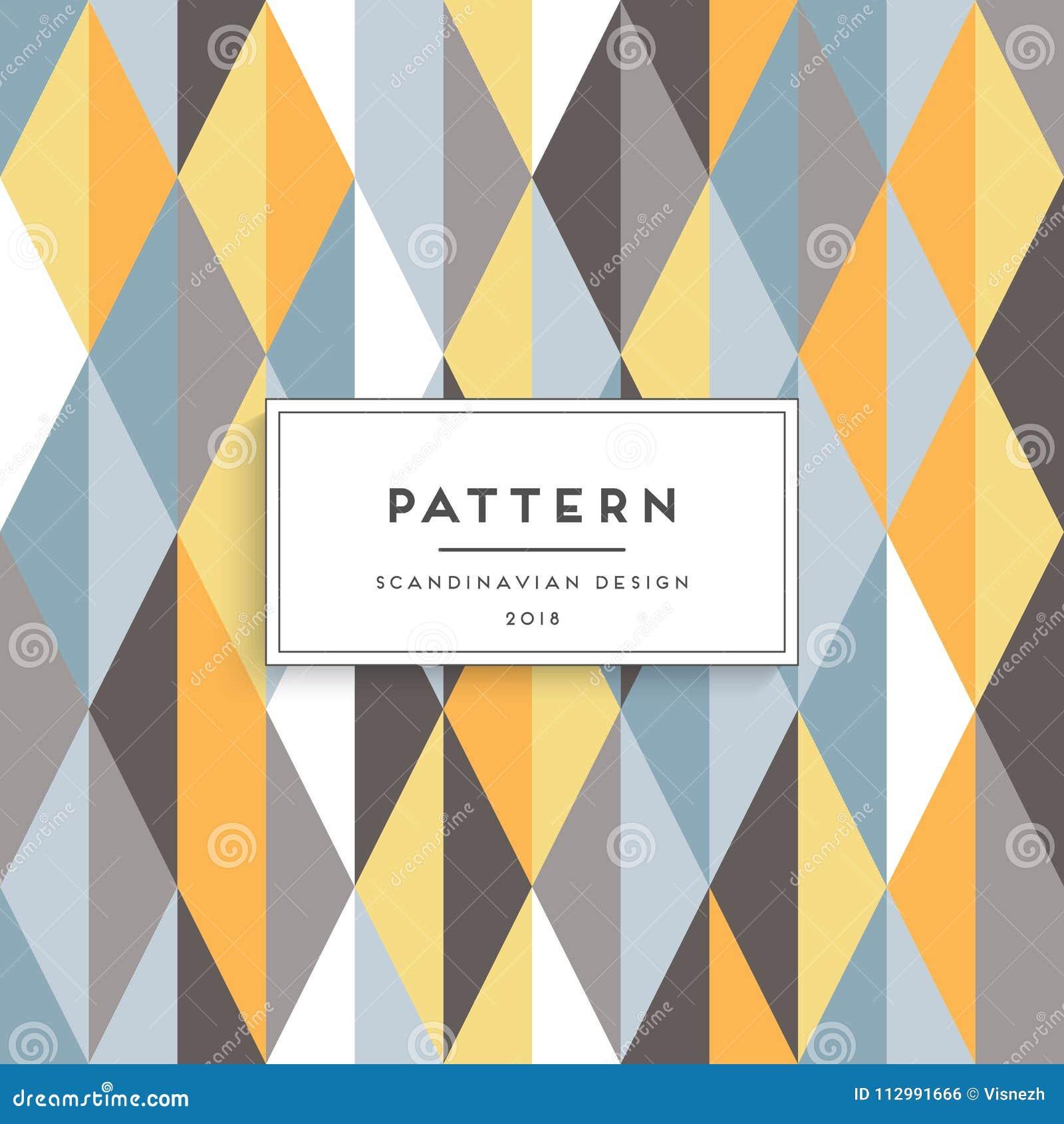Scandinavian floral seamless pattern