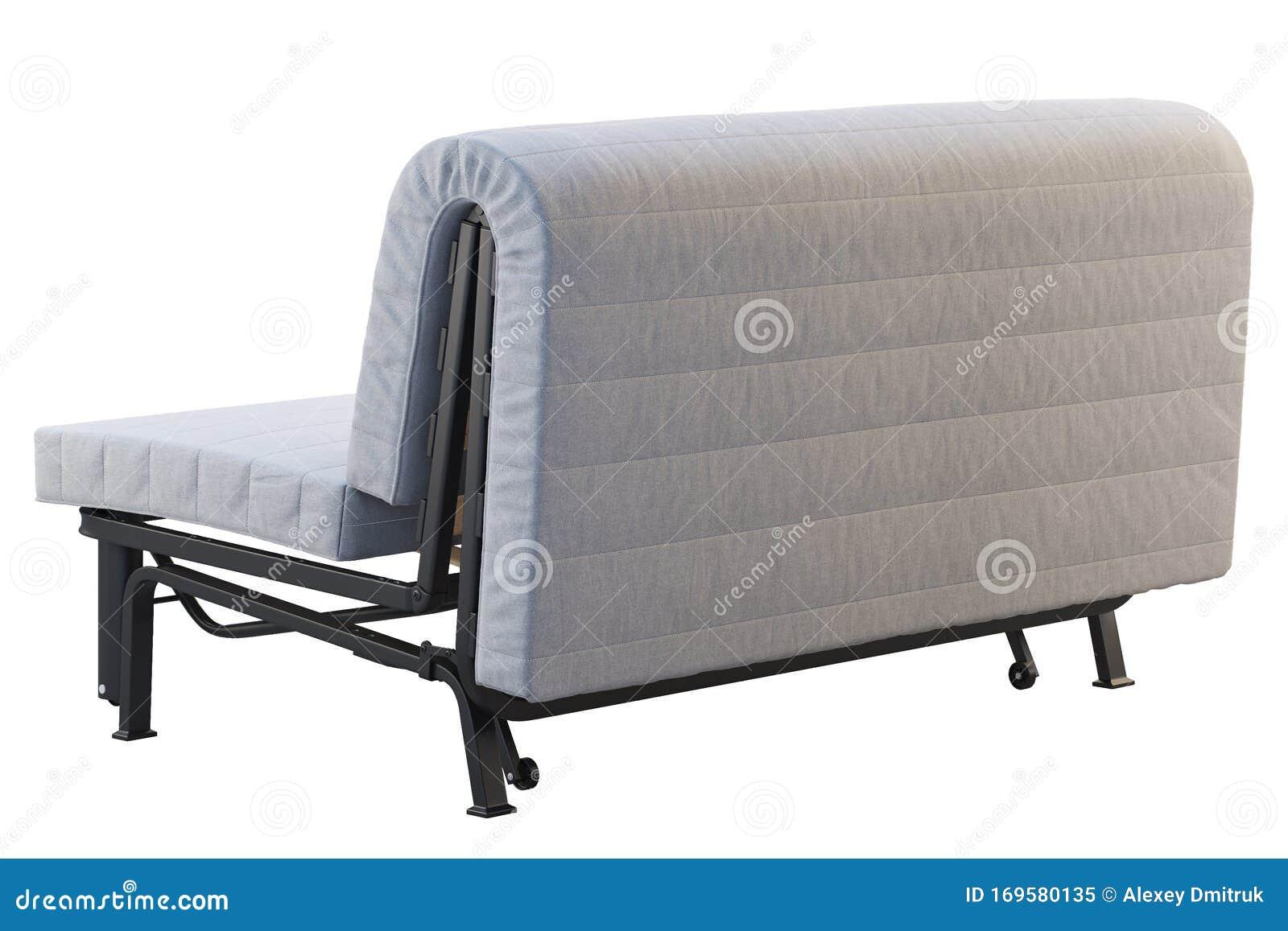 - Scandinavian Folding Sofa Bed With Mattress. 3d Render Stock Image
