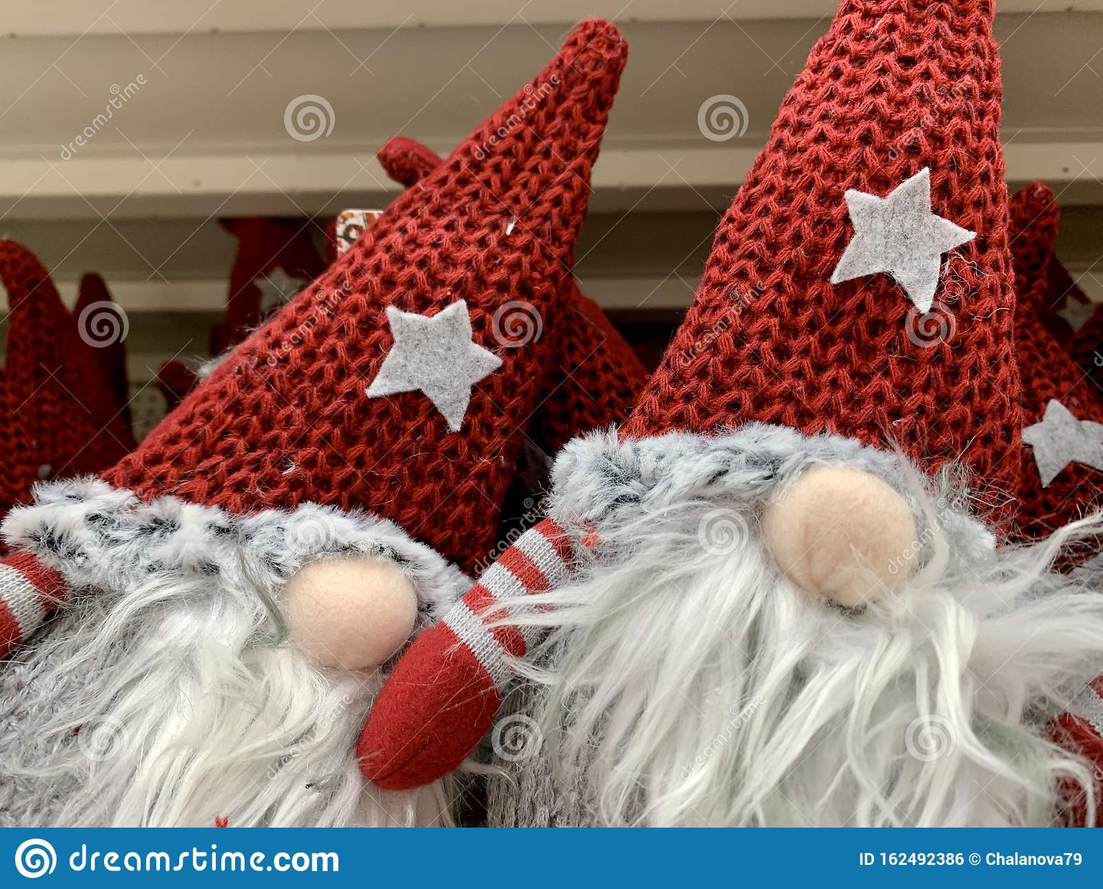 Scandinavian Gnome In Red Hat Decorative Christmas Toy In The Supermarket Nobody Pair Stock Photo Image Of Handmade Magician 162492386