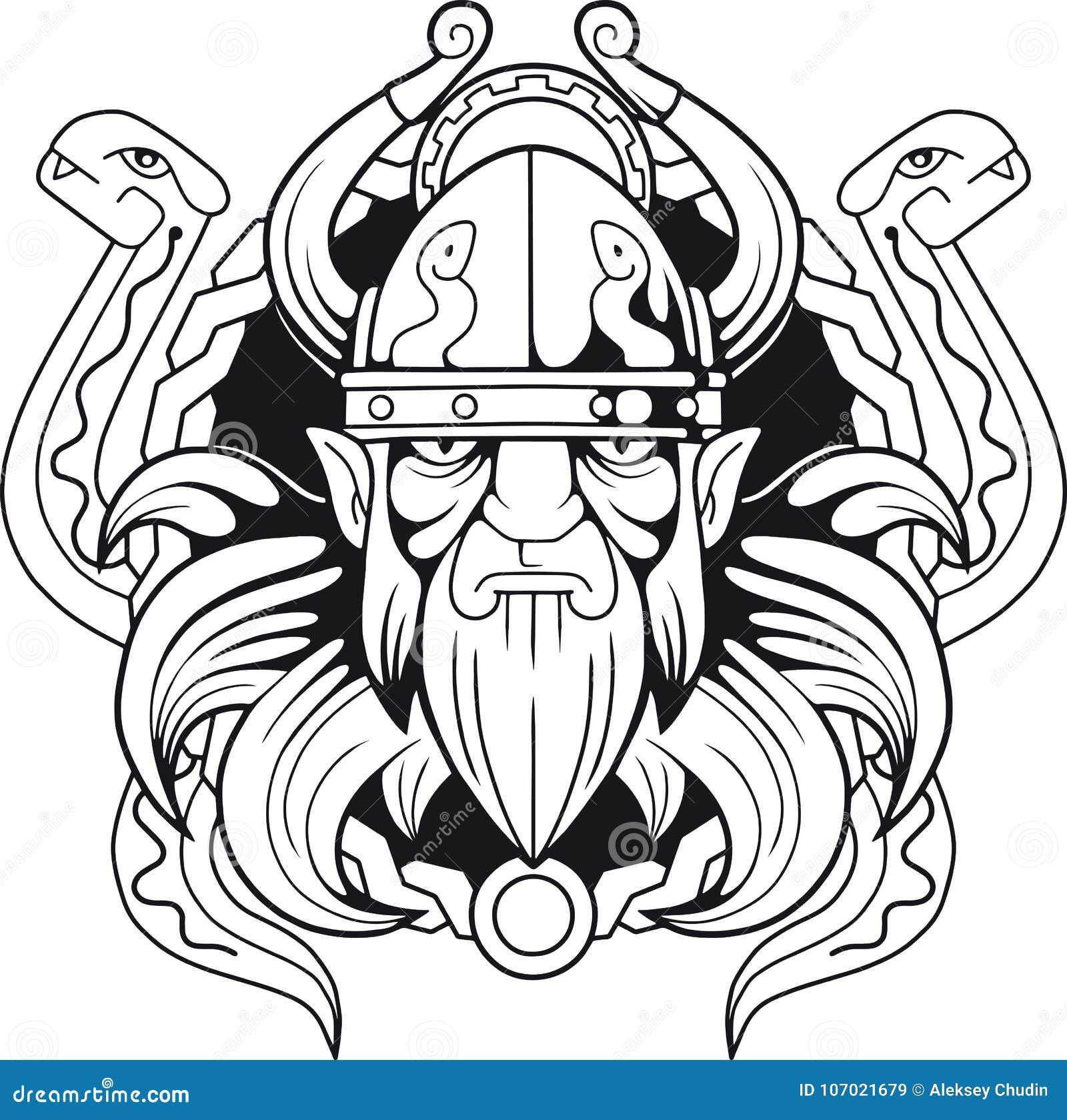 Scandinavian God Of Deception Loki Stock Vector Illustration Of