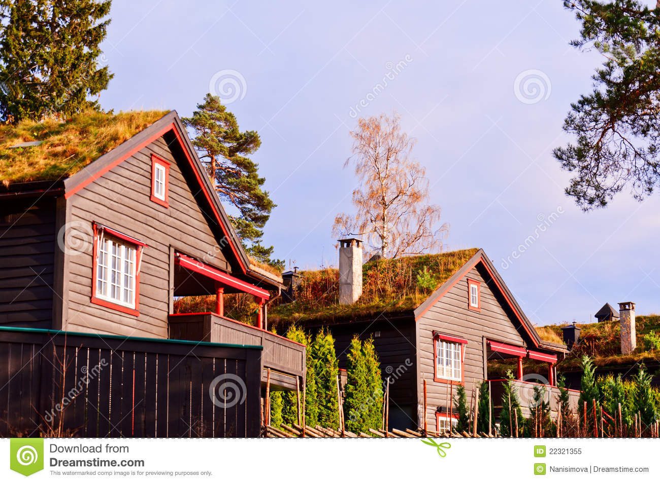 Scandinavian Houses Royalty Free Stock Photo Image 22321355
