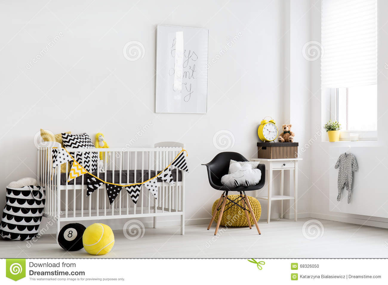 Scandinavian Inspiration For A Baby Room Stock Photo - Image of