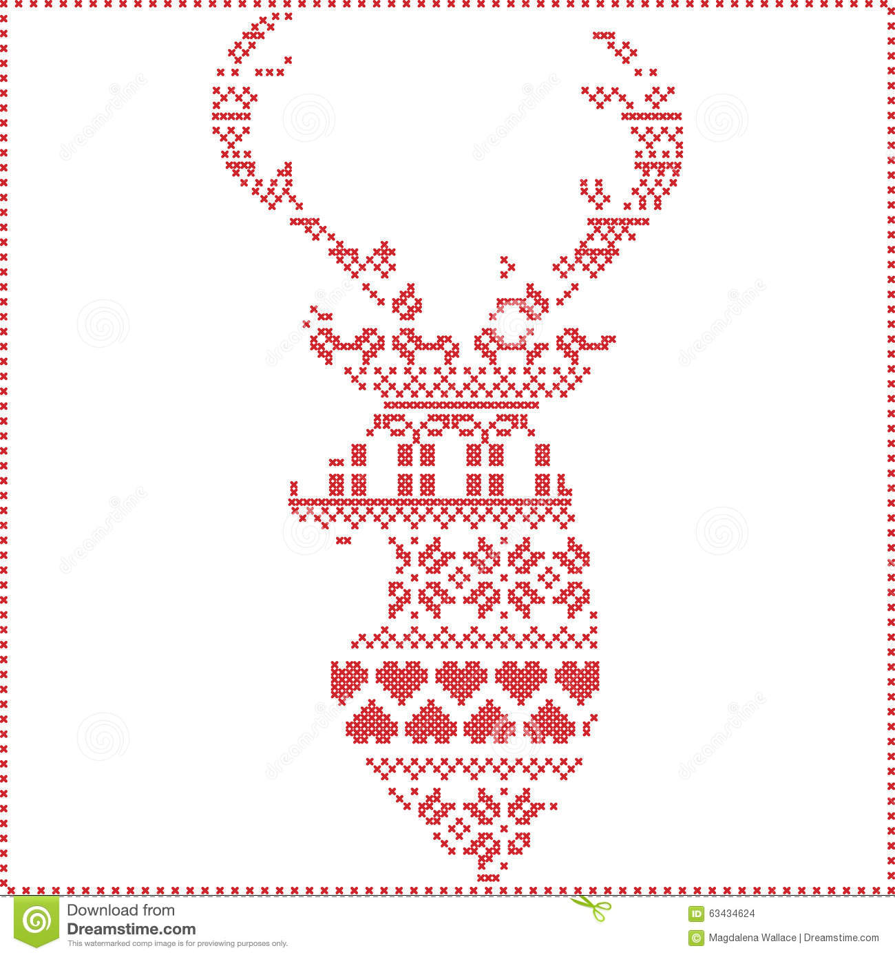 Scandinavian nordic winter stitch knitting christmas pattern in scandinavian nordic winter stitch knitting christmas pattern in in reindeer shape shape including snowflakes xmas trees bankloansurffo Images