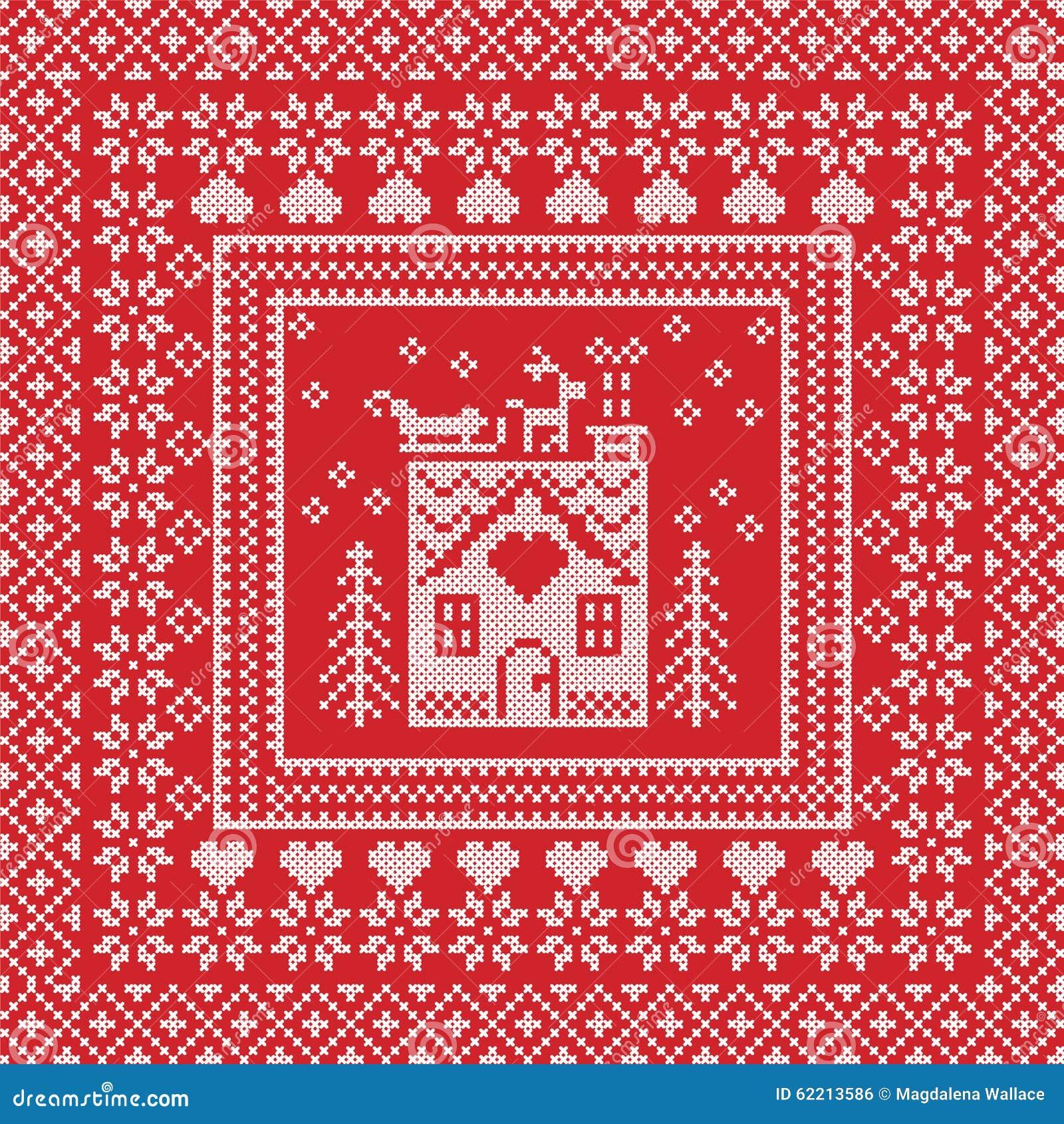 Scandinavian Nordic Winter Stitch, Knitting Pattern In ...