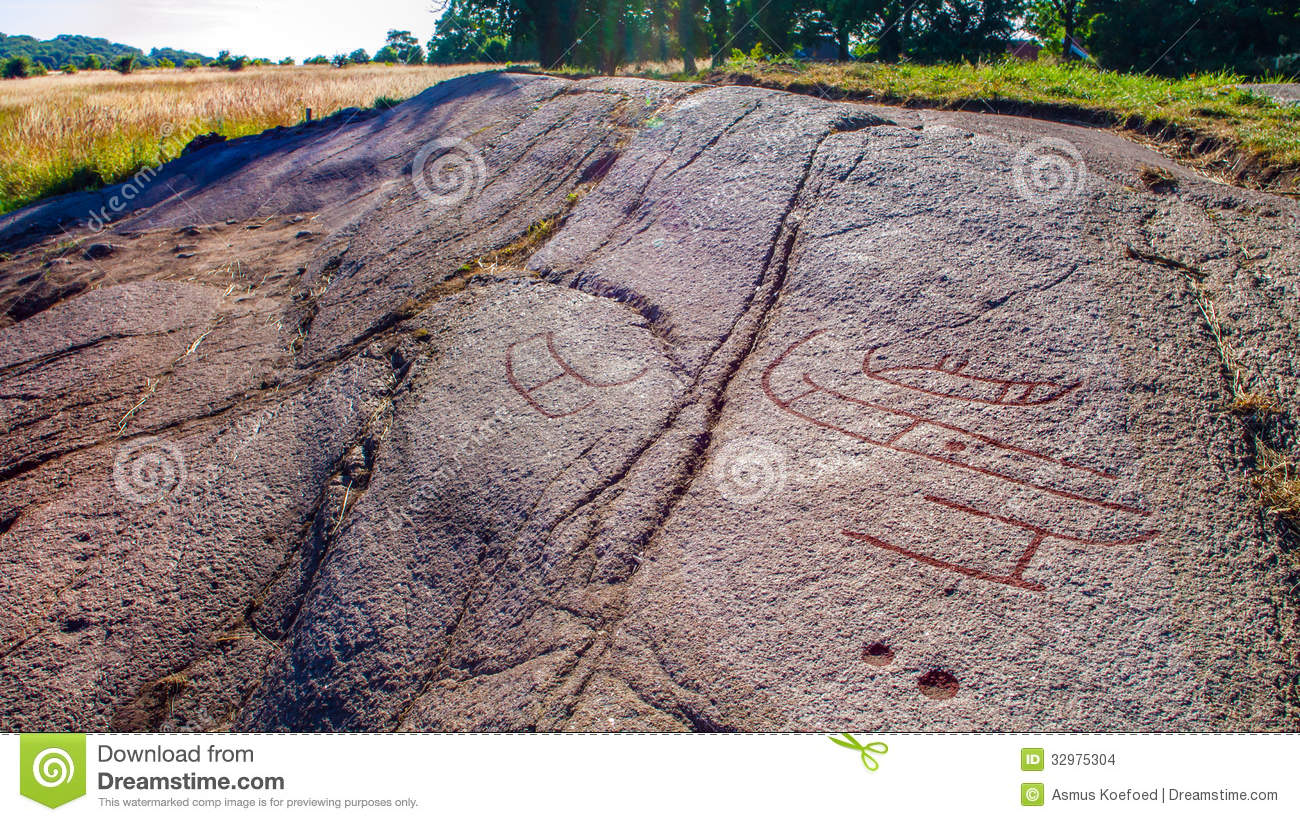 Scandinavian rock carving stock images image 32975304 for Old age home landscape design