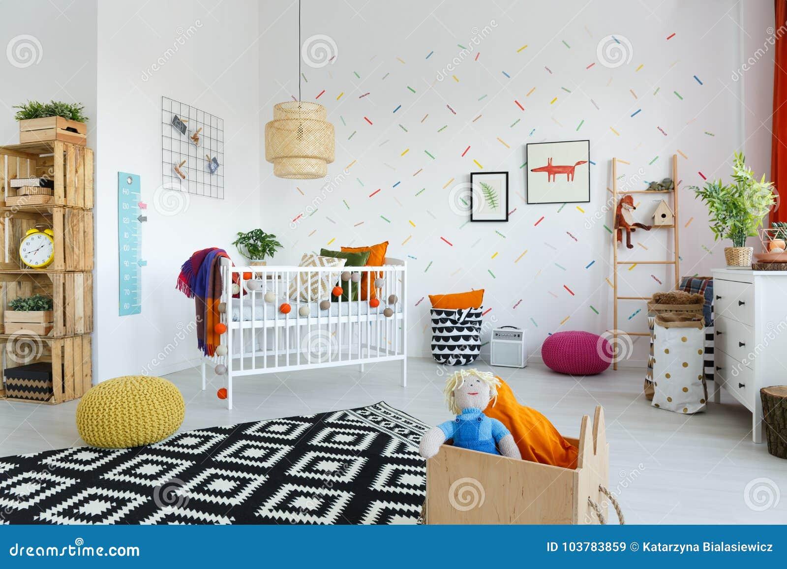 Scandinavian style baby`s room