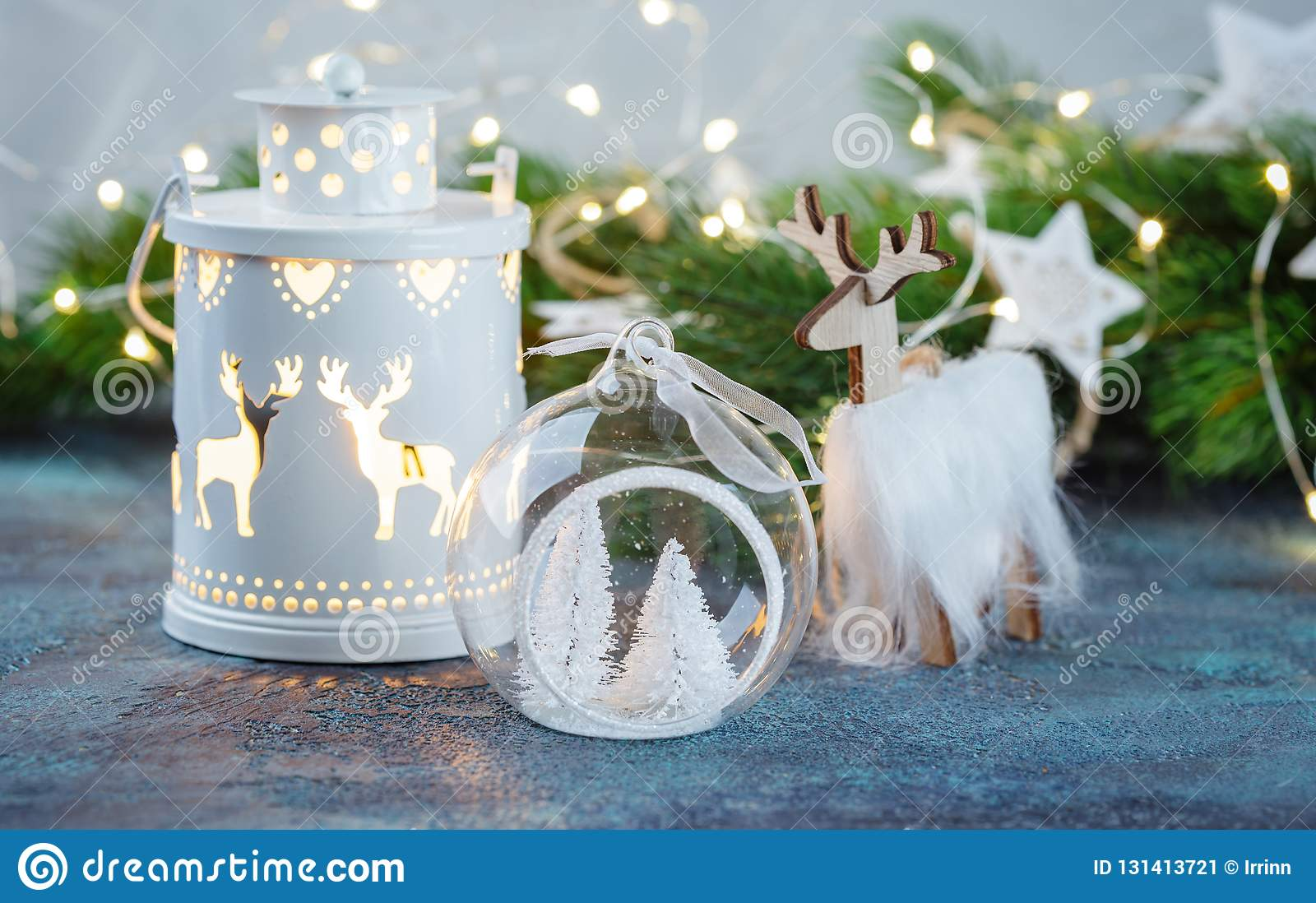Scandinavian Style Christmas Or New Year Decorations ...