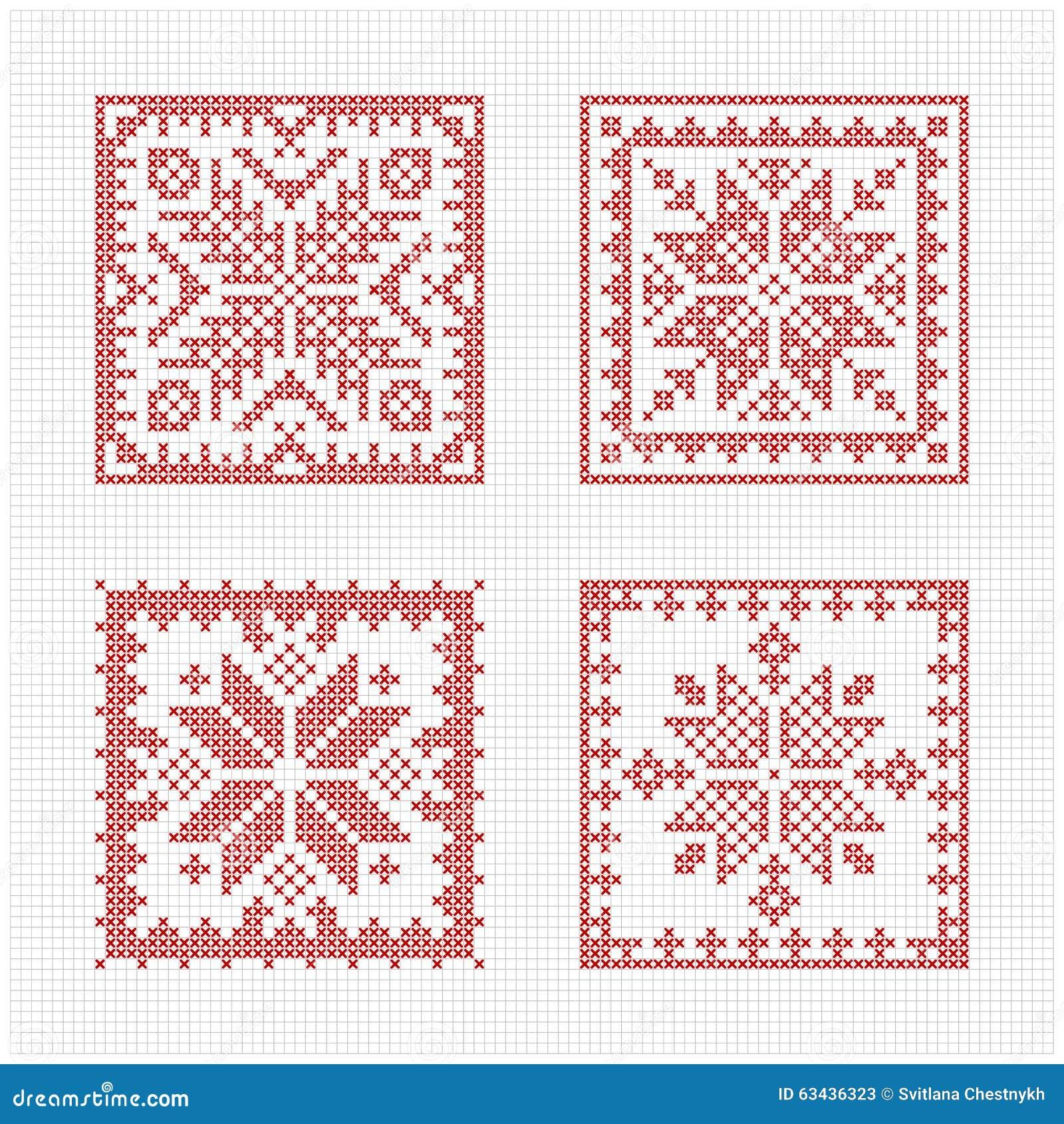 Cross Stitch Christmas Card Designs