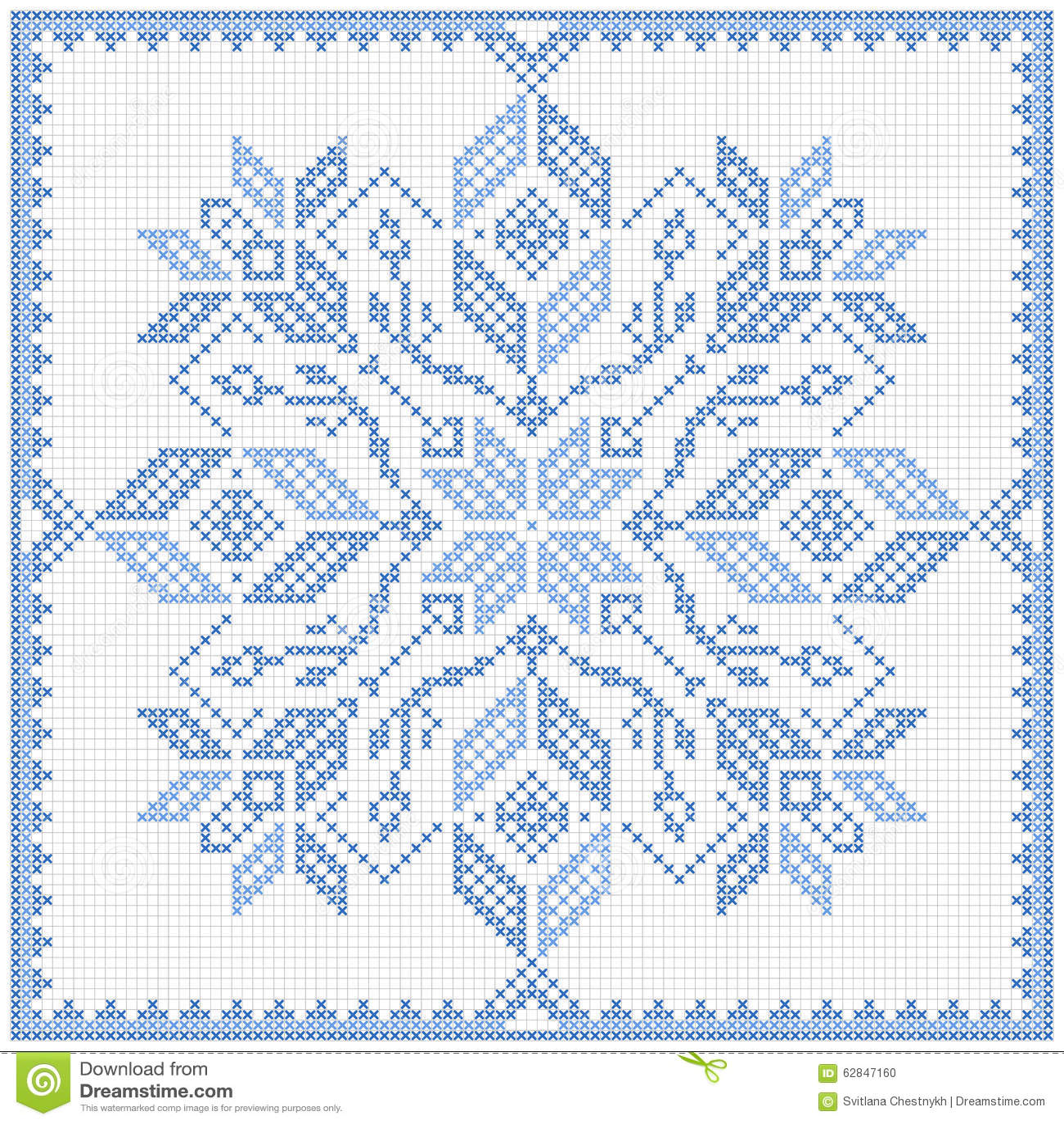 Scandinavian Style Cross Stitch Pattern Stock Vector