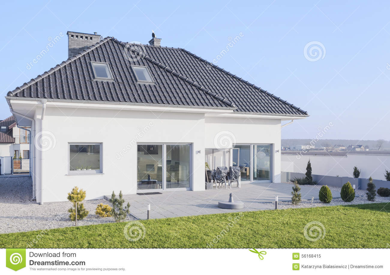 Scandinavian Style House Stock Image Image Of Luxurious 56168415