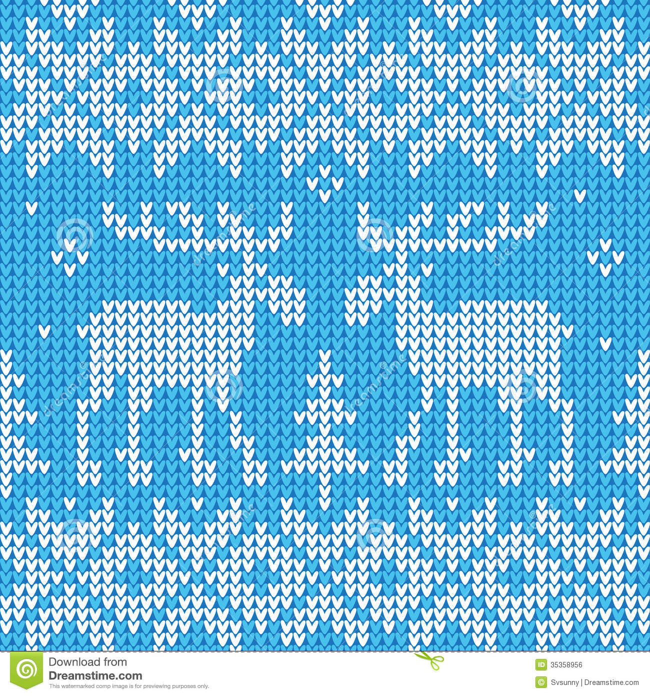 Knitting Pattern Vector Download : Scandinavian Style Seamless Knitted Pattern With Deers ...