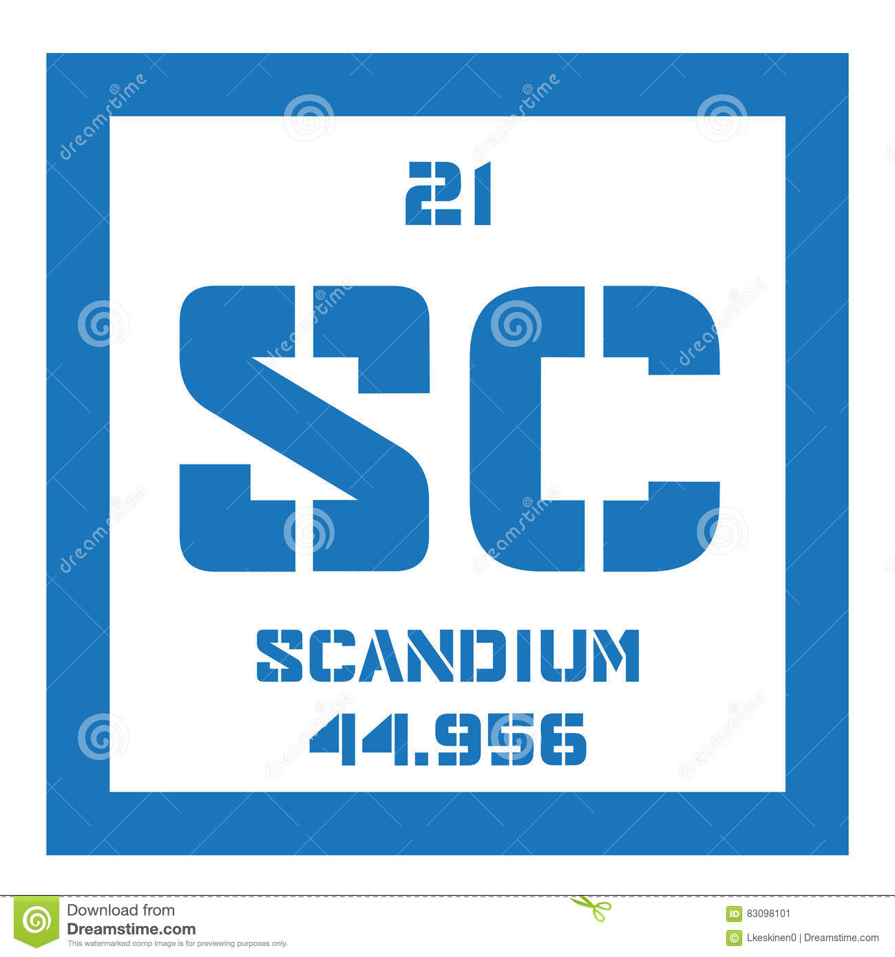Scandium chemical element stock vector image of element 83098101 royalty free vector gamestrikefo Images