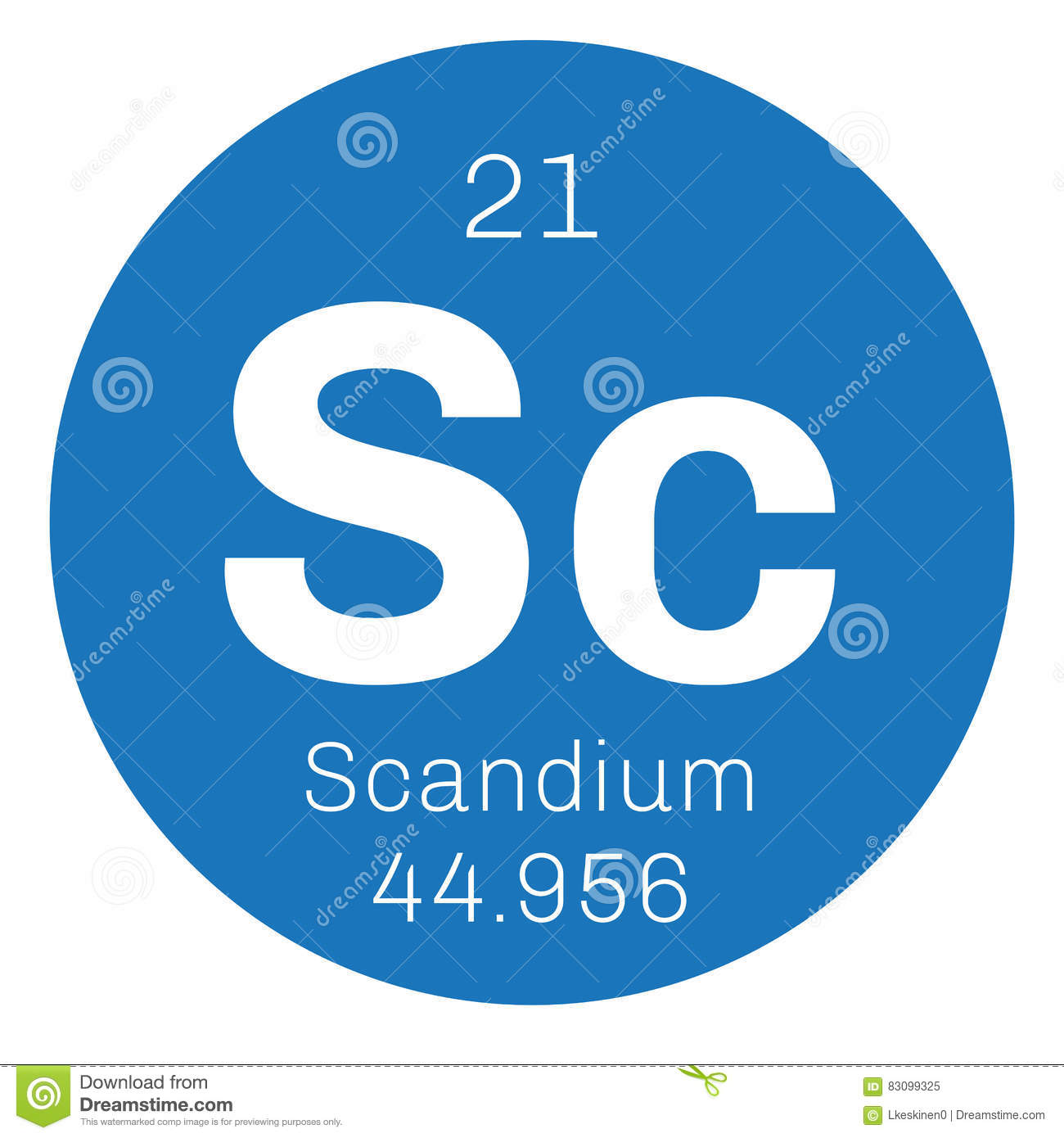 Scandium chemical element stock vector image of sign 83099325 royalty free vector gamestrikefo Images