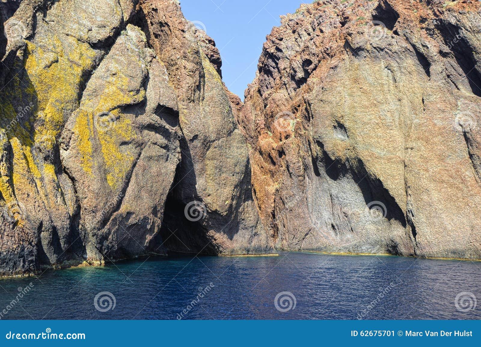 Scandola góry na Corsica