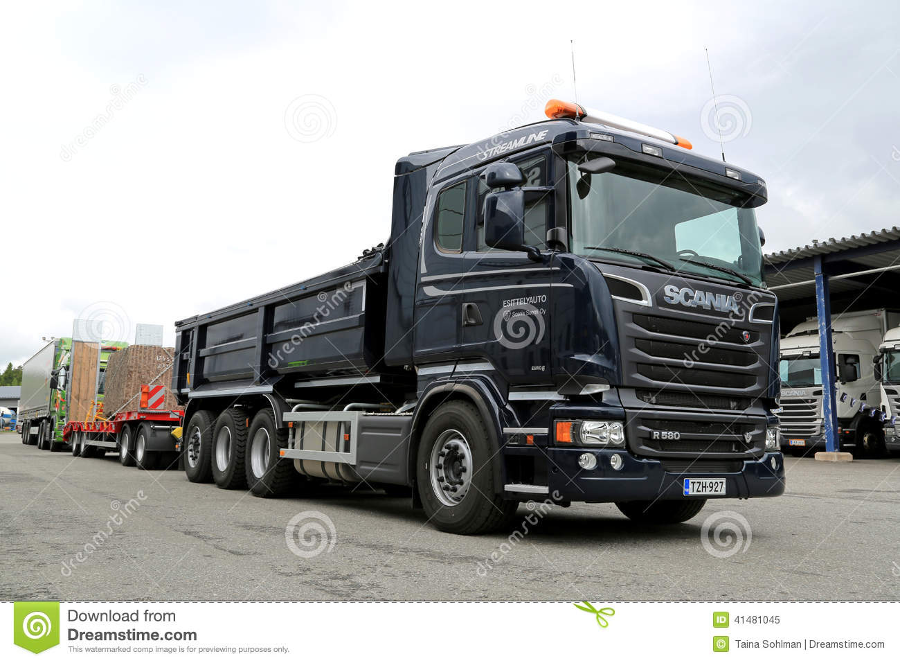Fabuleux Scania R580 Euro 6 V8 Construction Truck Editorial Image - Image  XV78