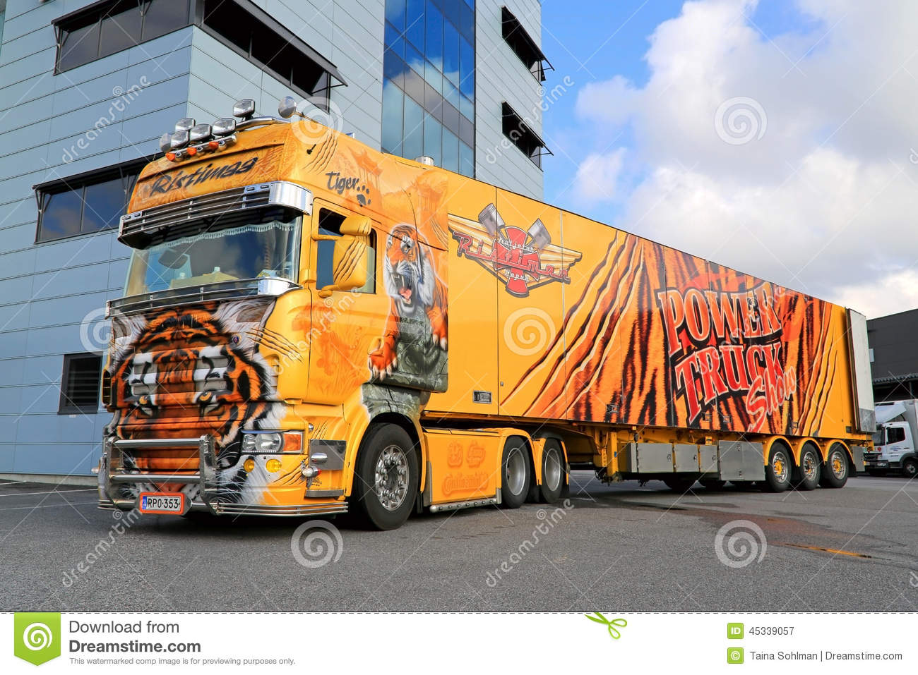 Scania R620 Show Truck Tiger At A Warehouse Editorial Photography - Image: 45339057