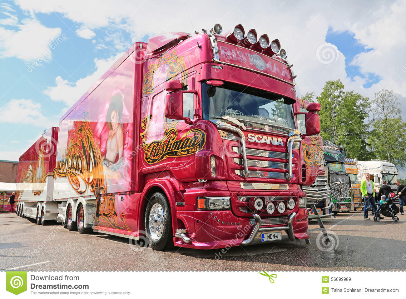 Scania R560 Truck Madonna Of Ristimaa, Finland Editorial Stock Image - Image: 56099989